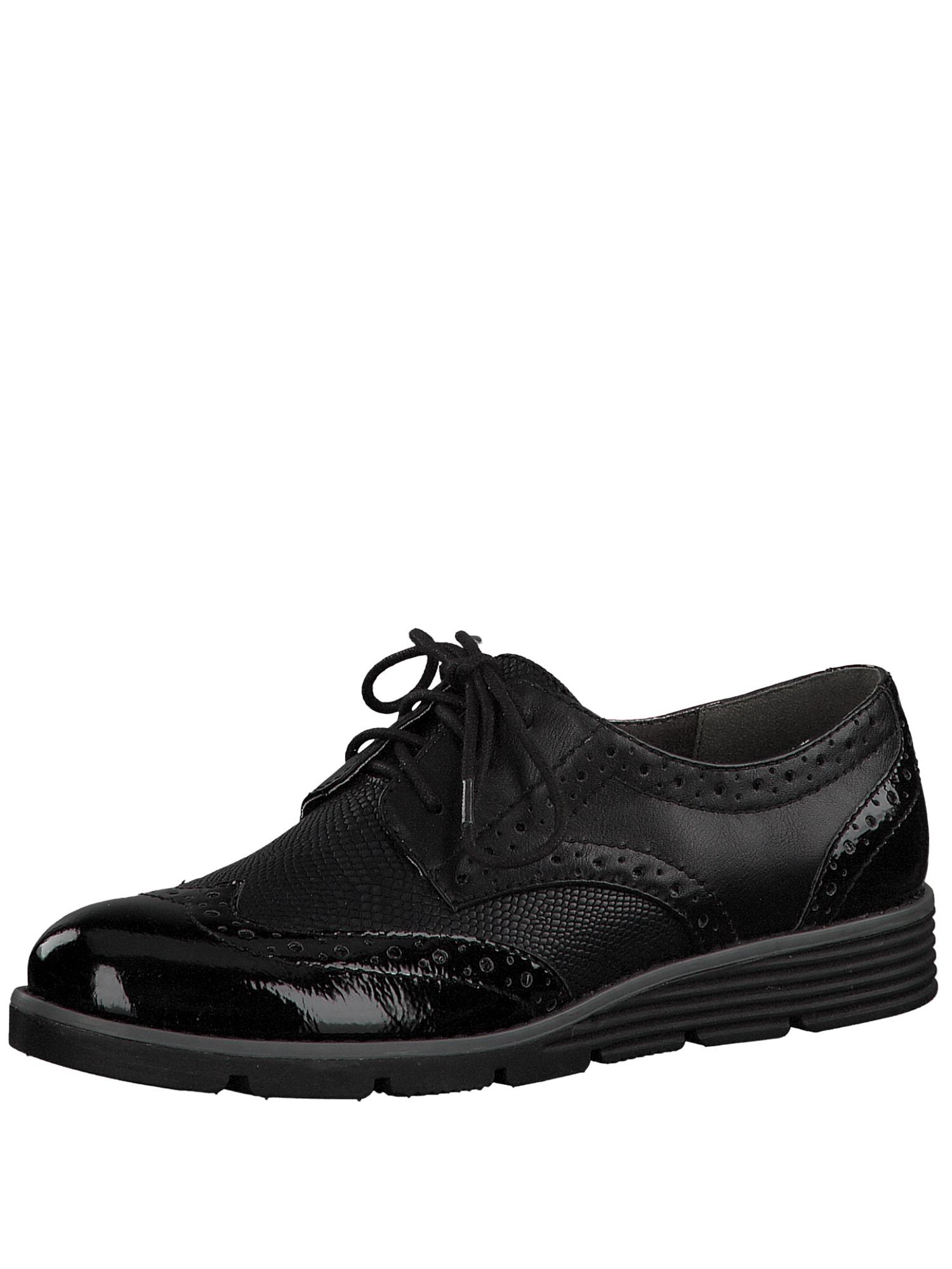 Šněrovací boty černá S.Oliver RED LABEL