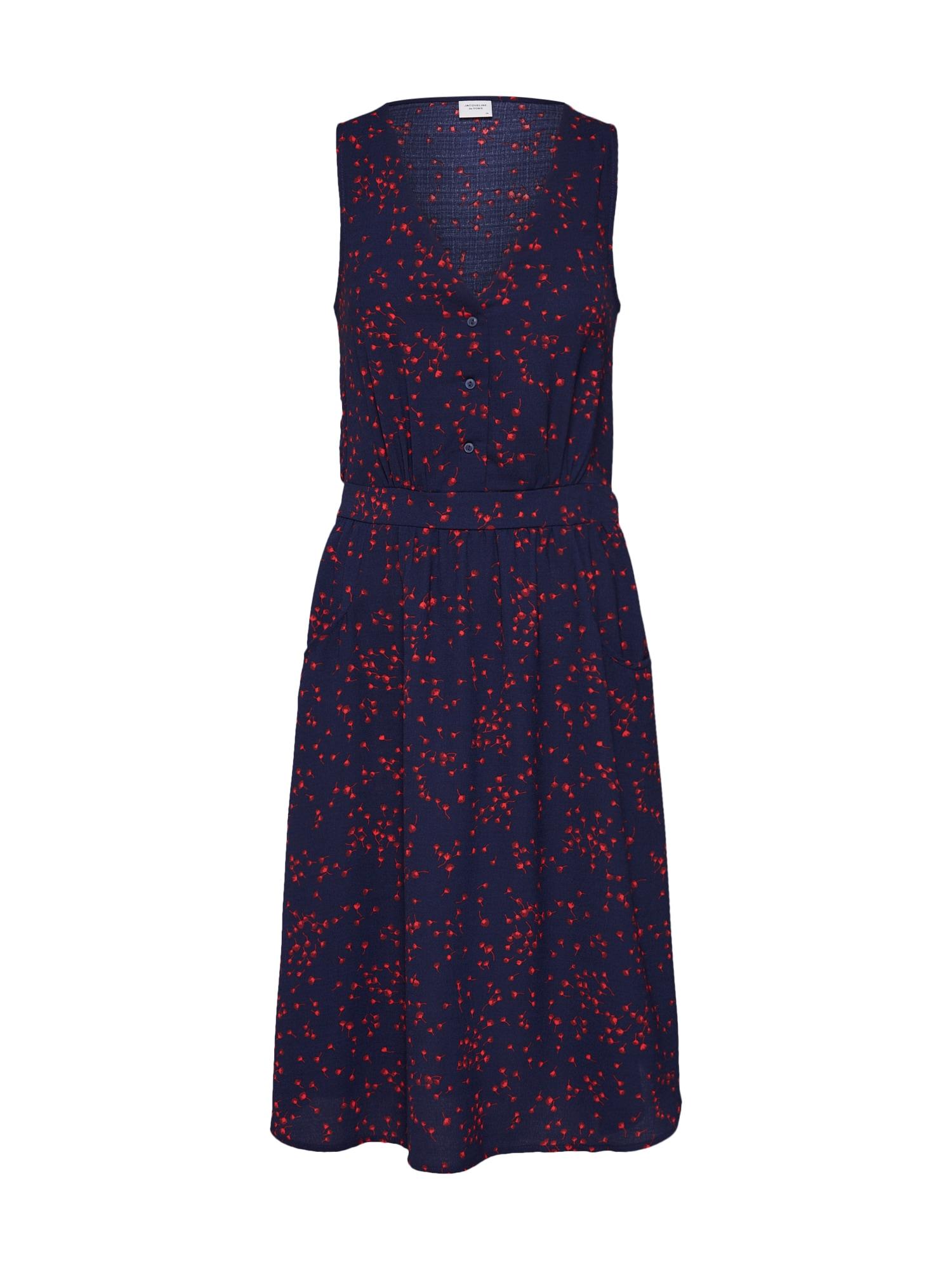 Šaty Layla námořnická modř červená JACQUELINE De YONG