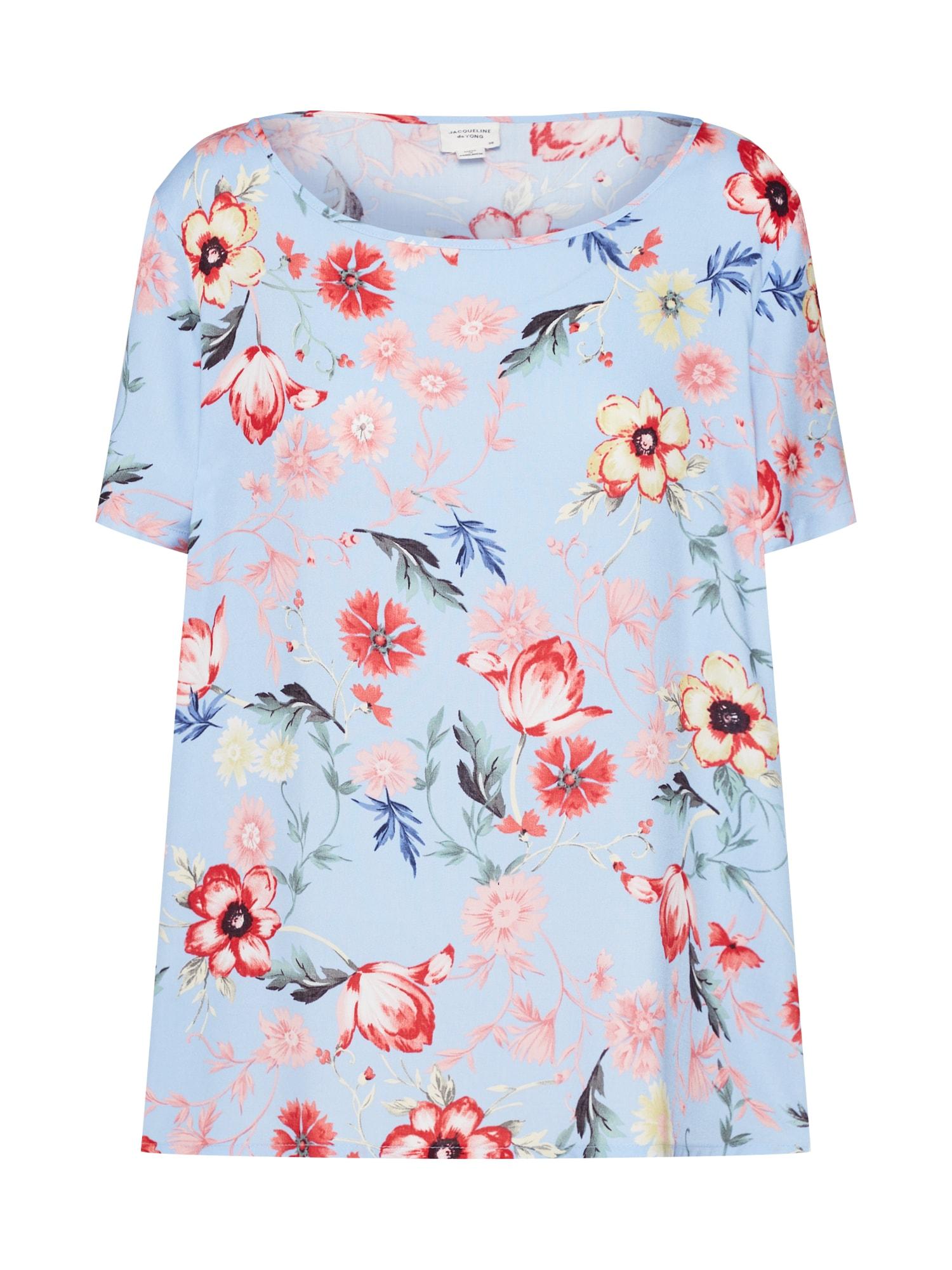 Tričko světlemodrá růžová JACQUELINE De YONG