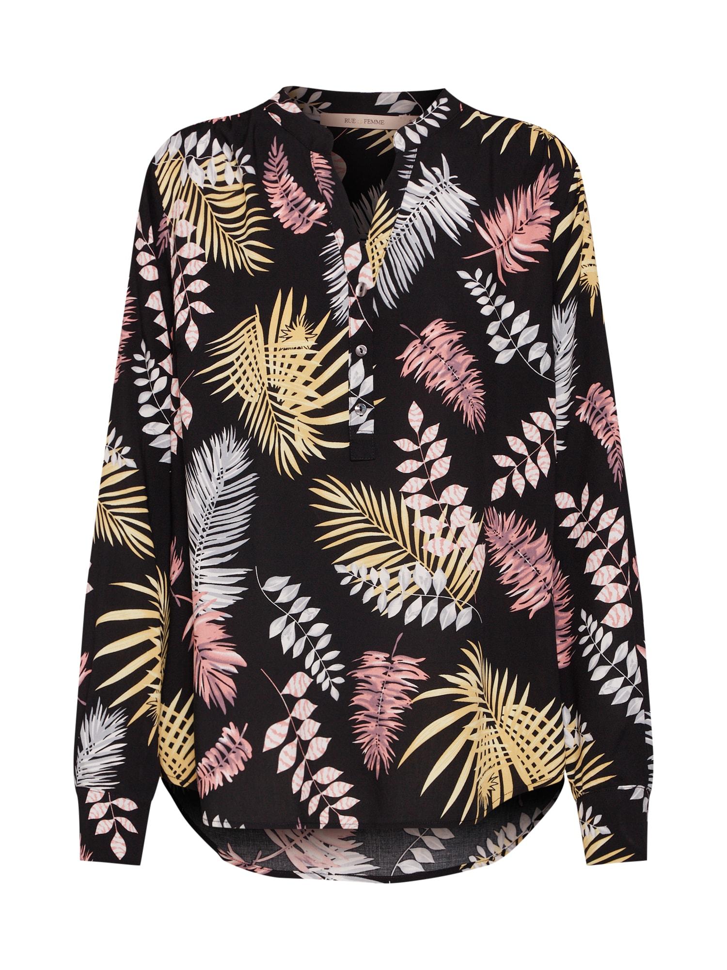 Halenka New doodle shirt mix barev černá RUE De FEMME