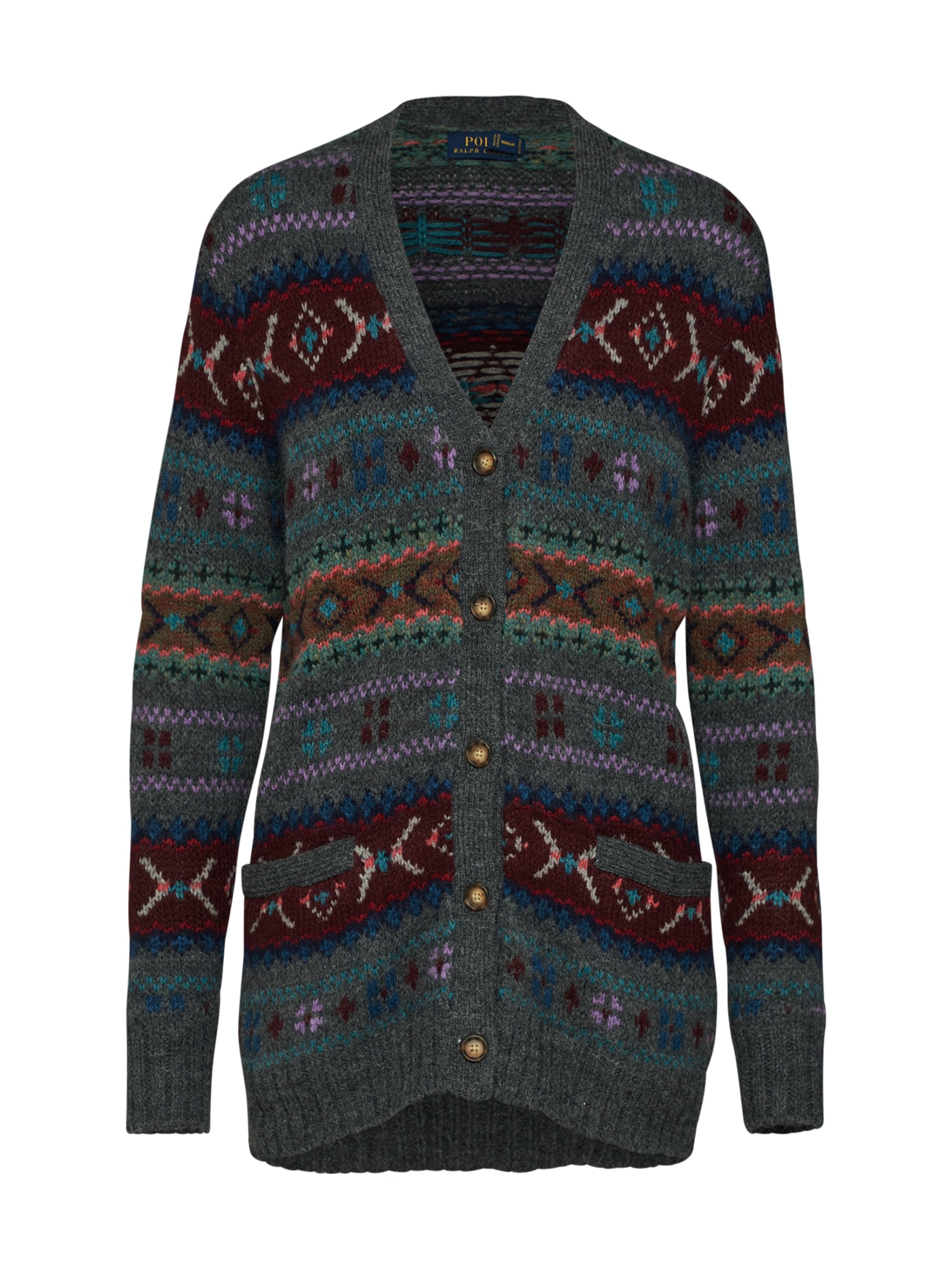 Kardigan VN CARDI-LONG SLEEVE-SWEATER mix barev POLO RALPH LAUREN