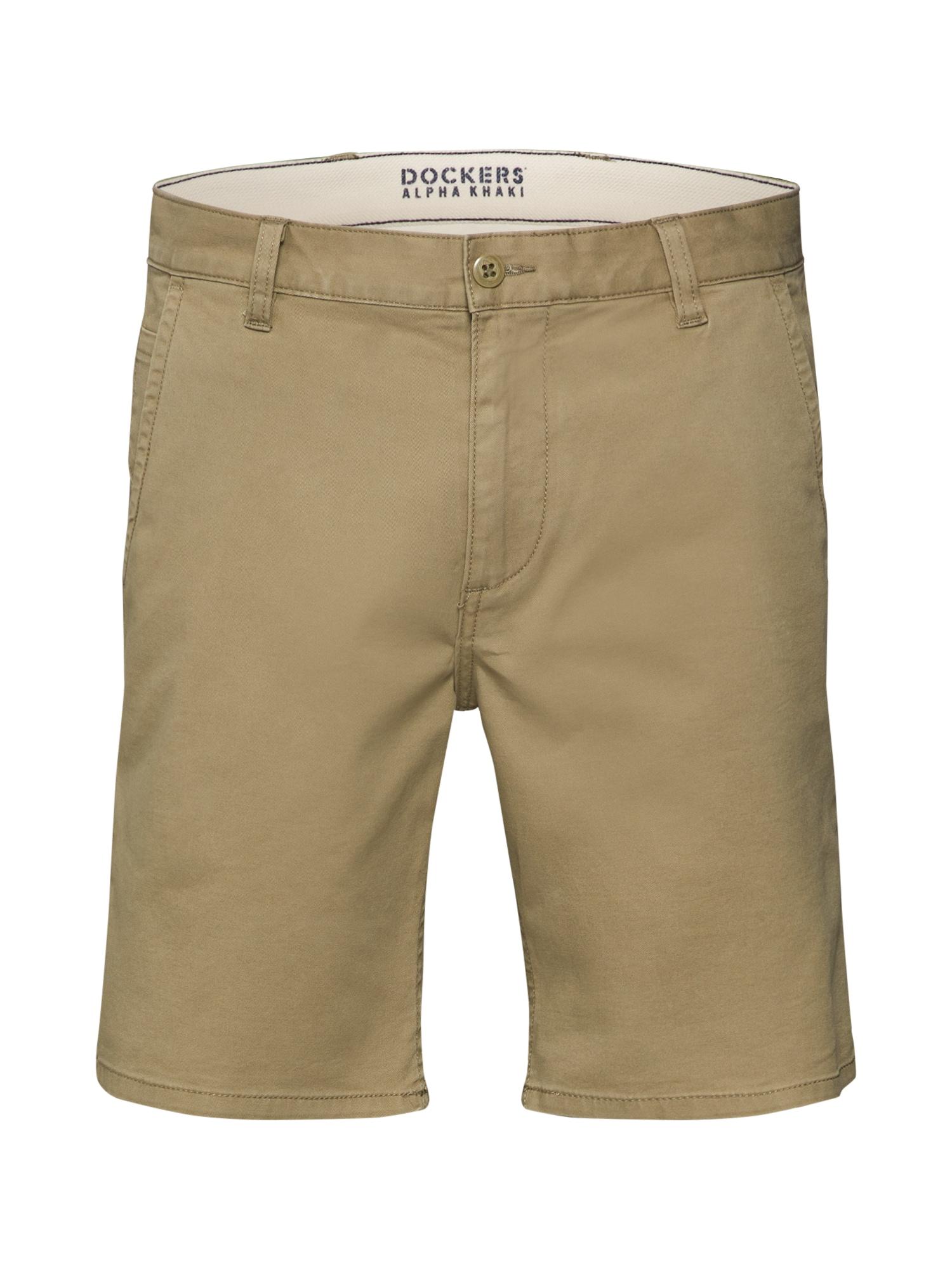 Chino kalhoty ALPHA SHORT - STRETCH TWILL tmavě béžová Dockers