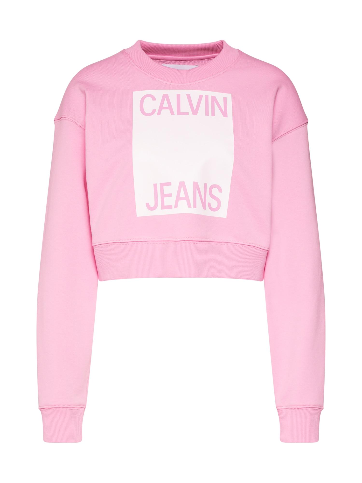 Mikina pink Calvin Klein Jeans