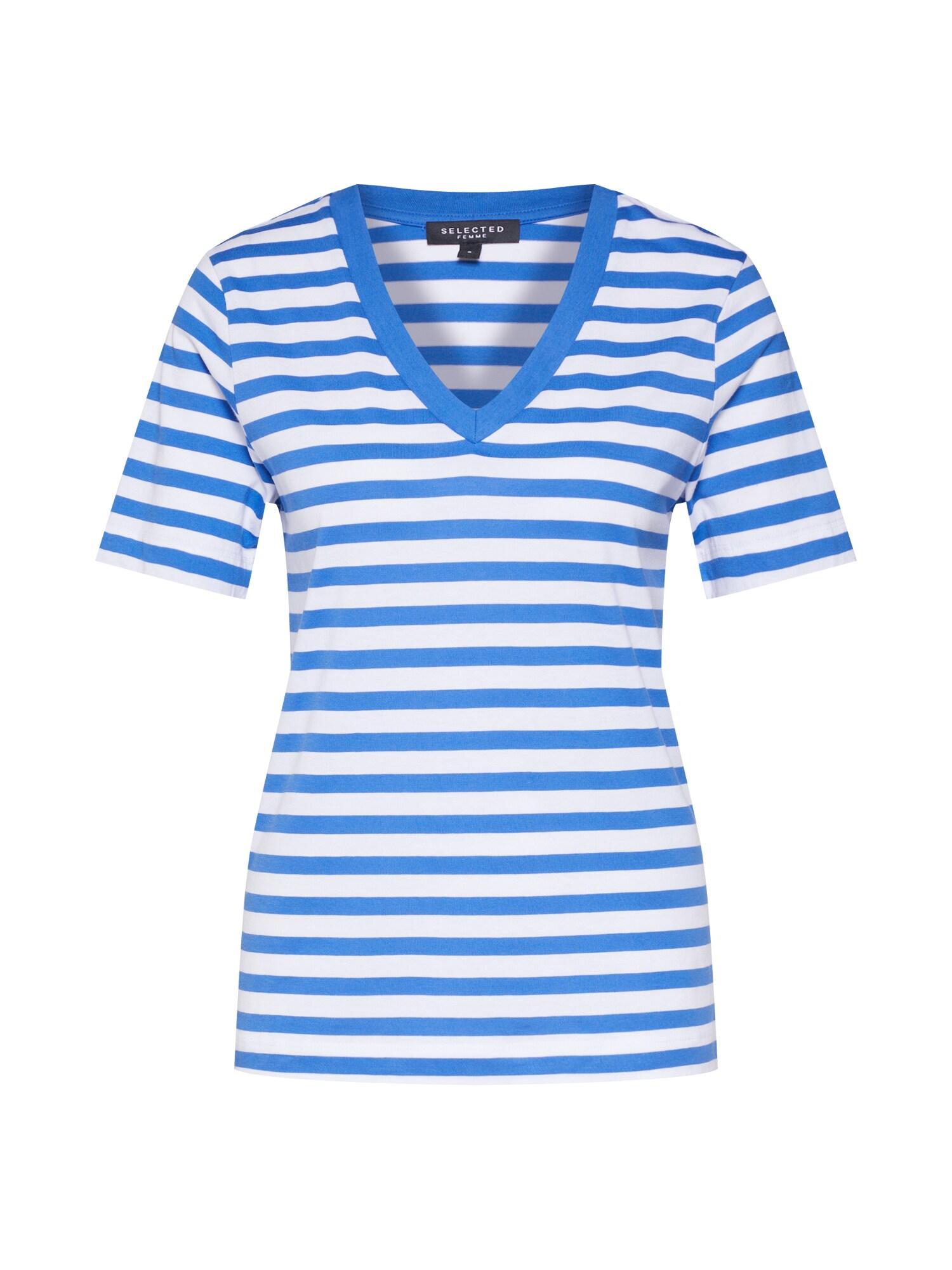 Tričko modrá bílá SELECTED FEMME