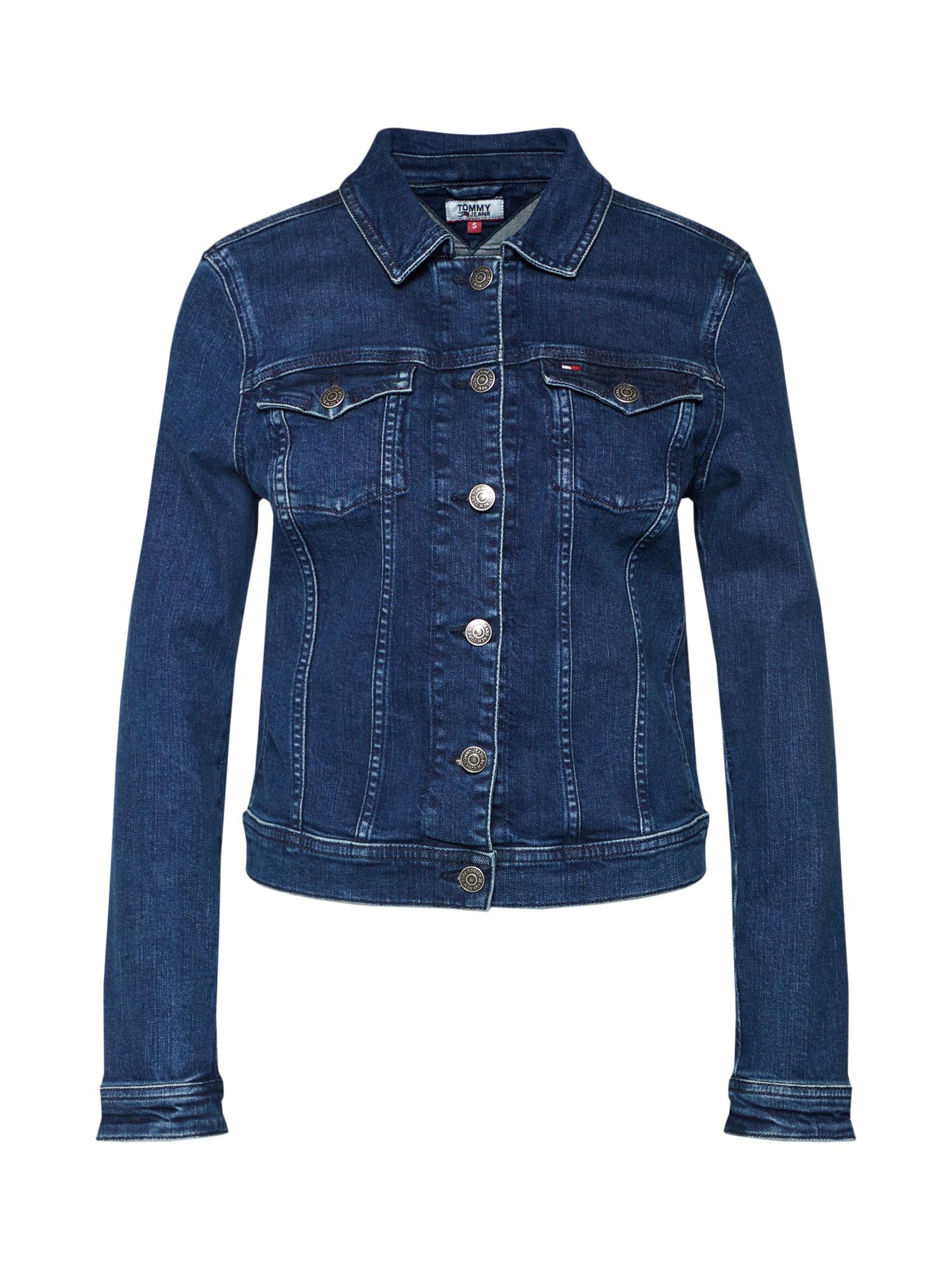 Přechodná bunda modrá džínovina Tommy Jeans