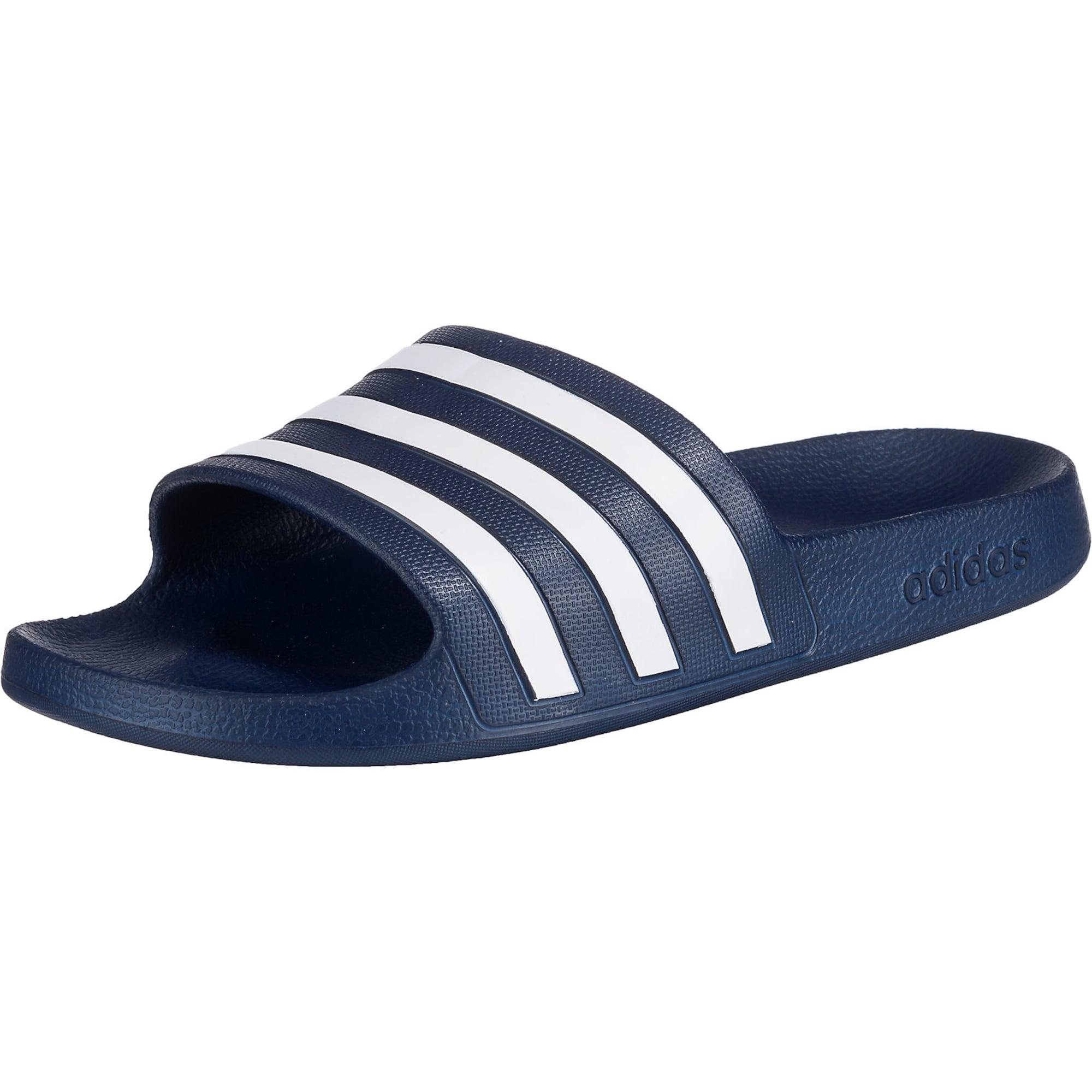 Plážovákoupací obuv Adilette Aqua tmavě modrá bílá ADIDAS PERFORMANCE