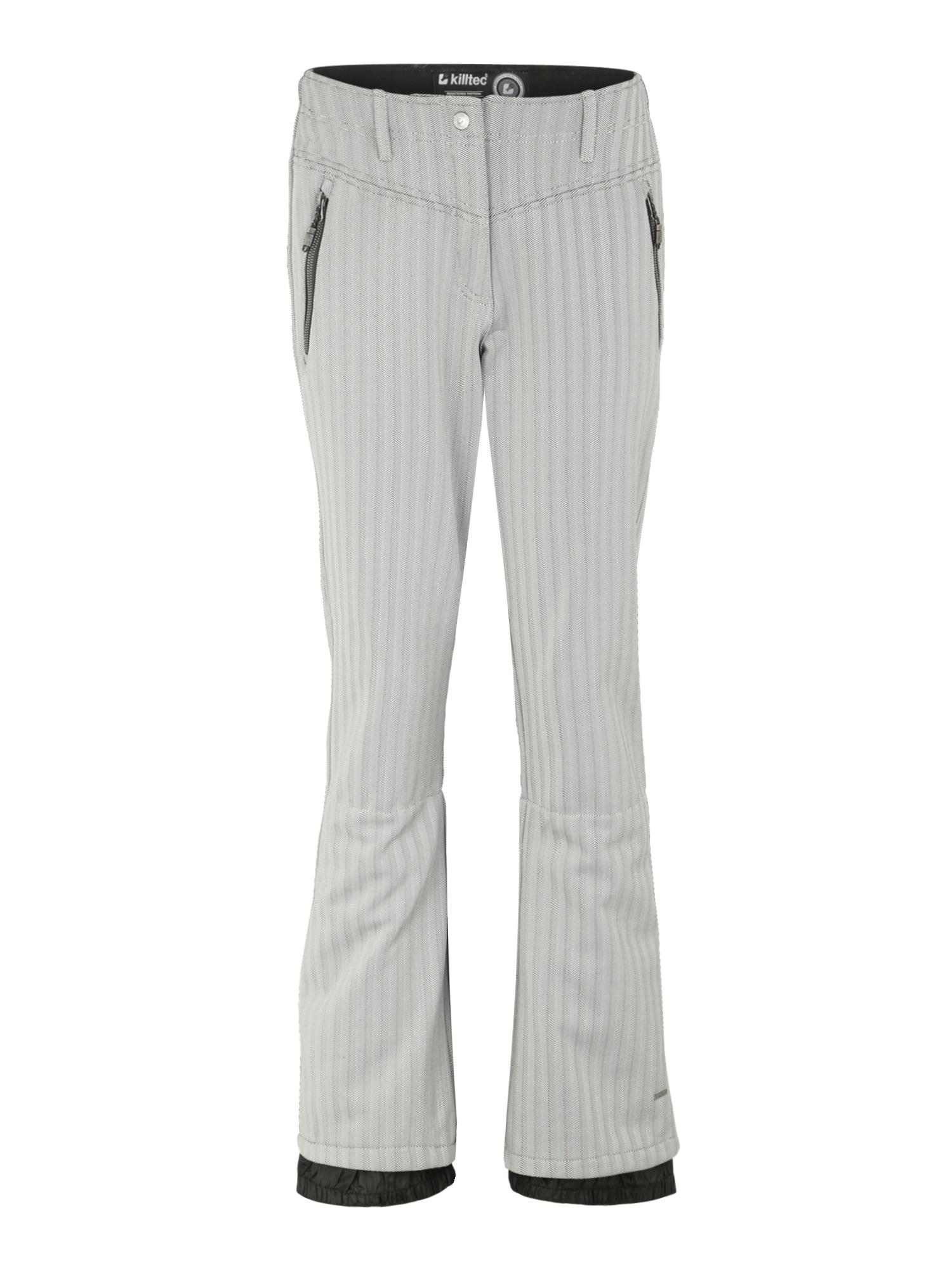 KILLTEC Športové nohavice 'Jilia Allover'  svetlosivá