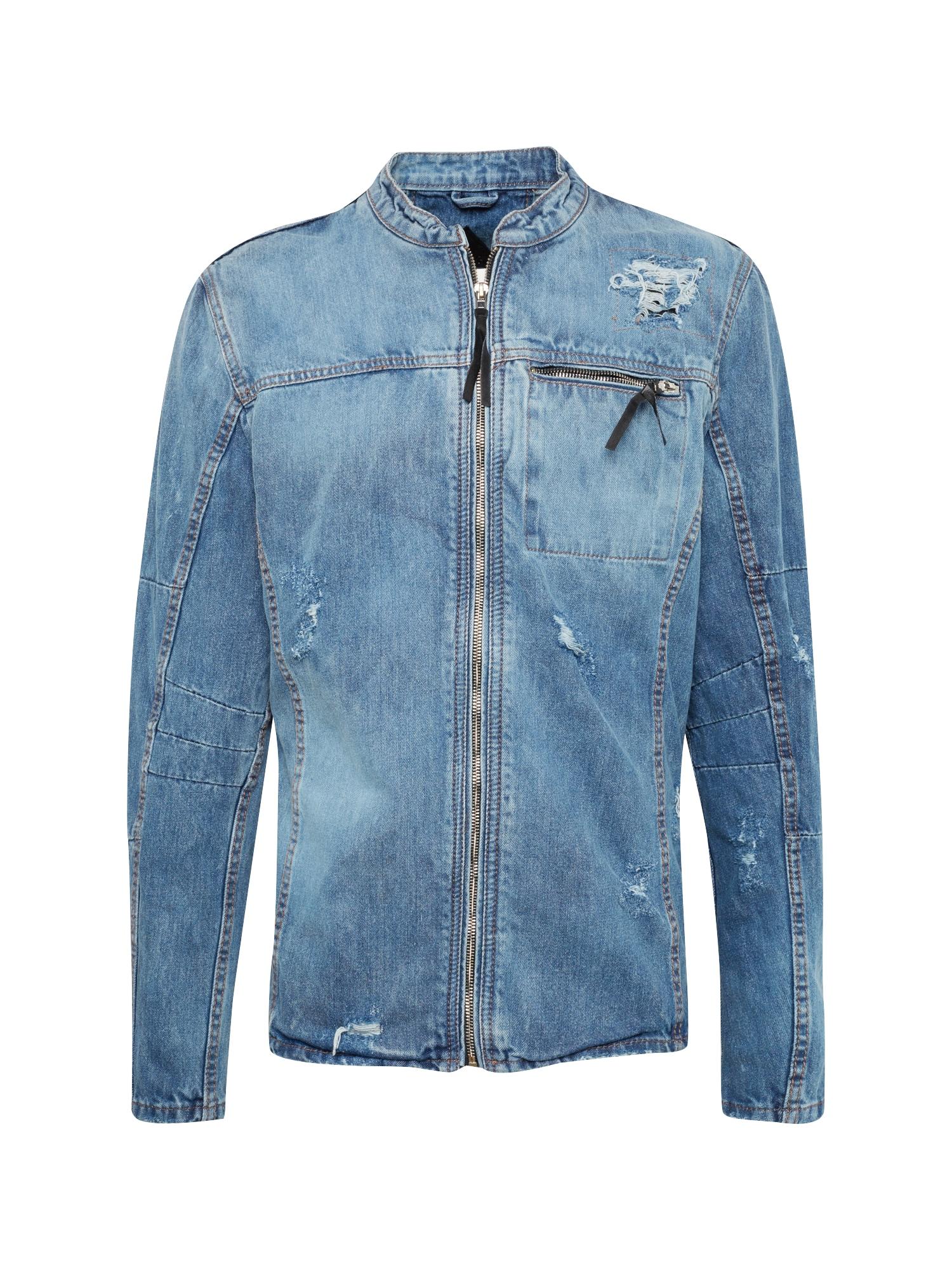 Přechodná bunda BEprism D modrá džínovina BE EDGY