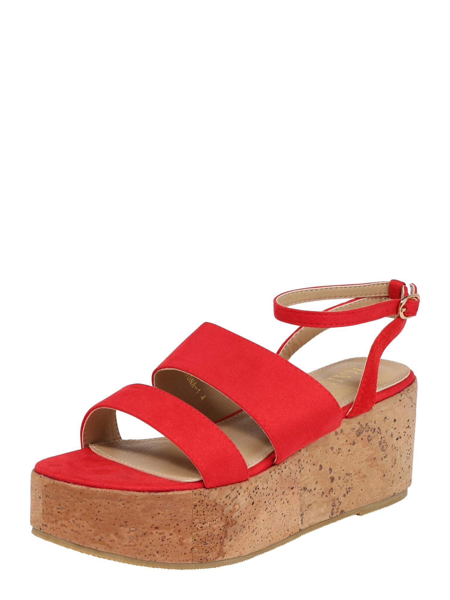 Páskové sandály LIONA červená Raid