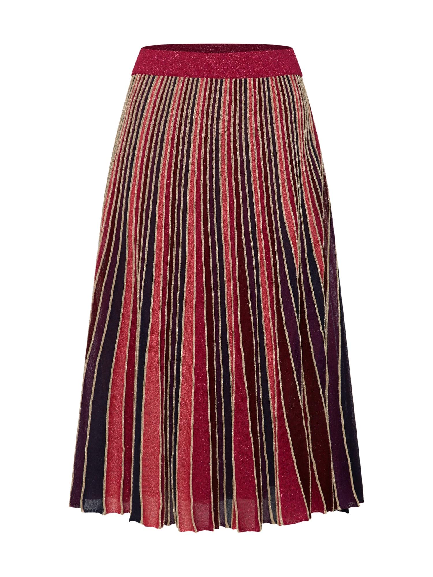 Sukně PREGIO mix barev červená MAX&Co.
