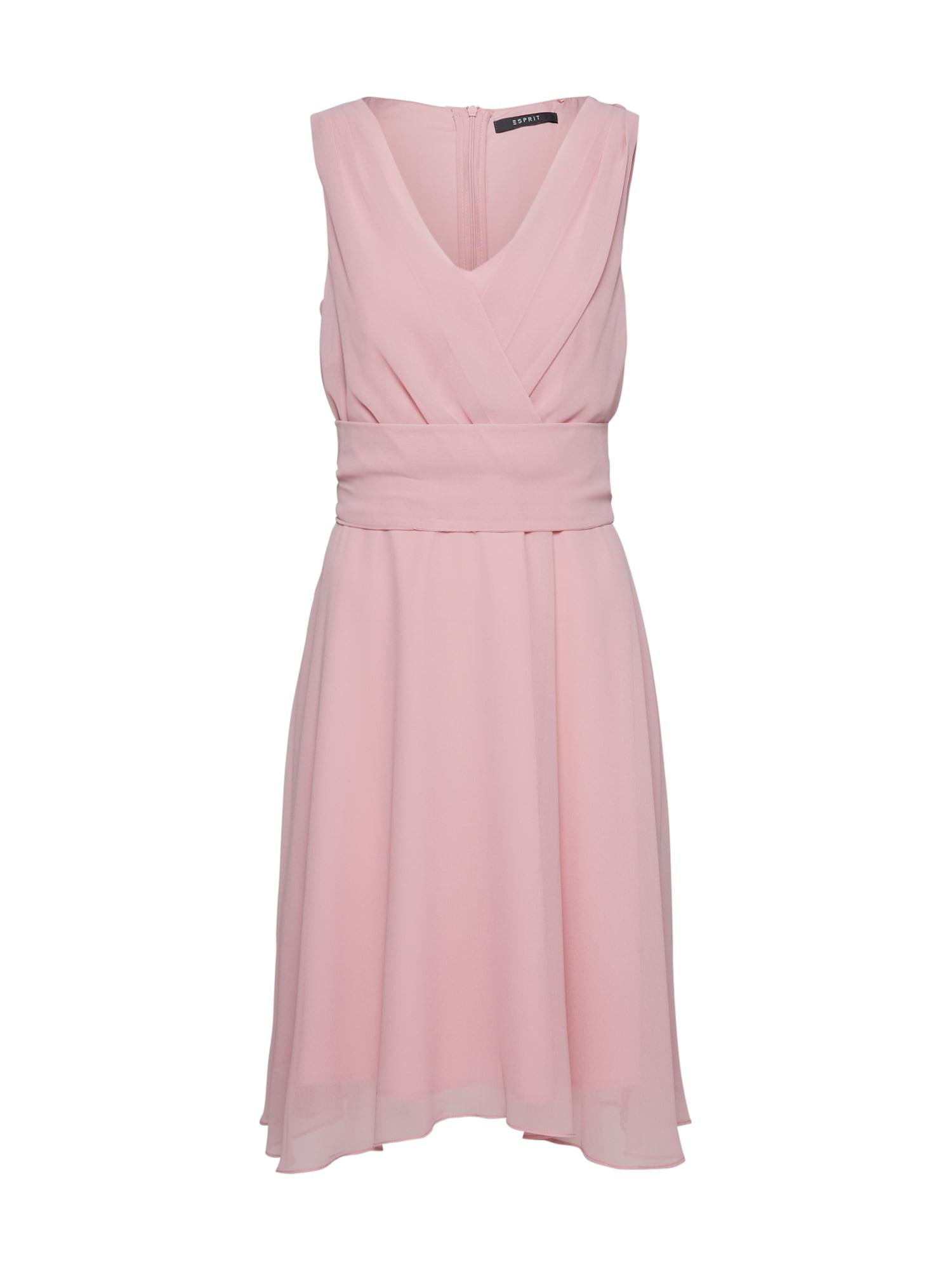 Koktejlové šaty New Fluid Chiff Dresses light woven růžová Esprit Collection