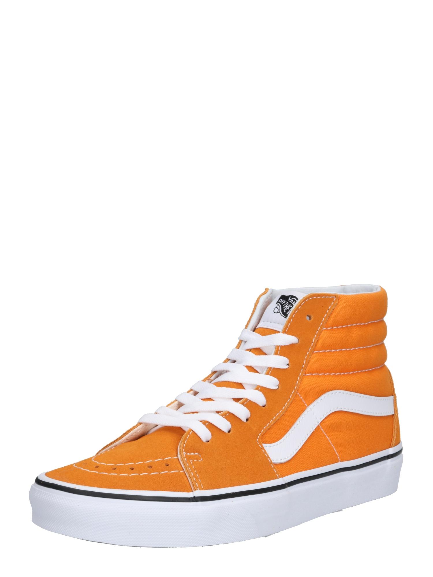 Kotníkové tenisky oranžová bílá VANS