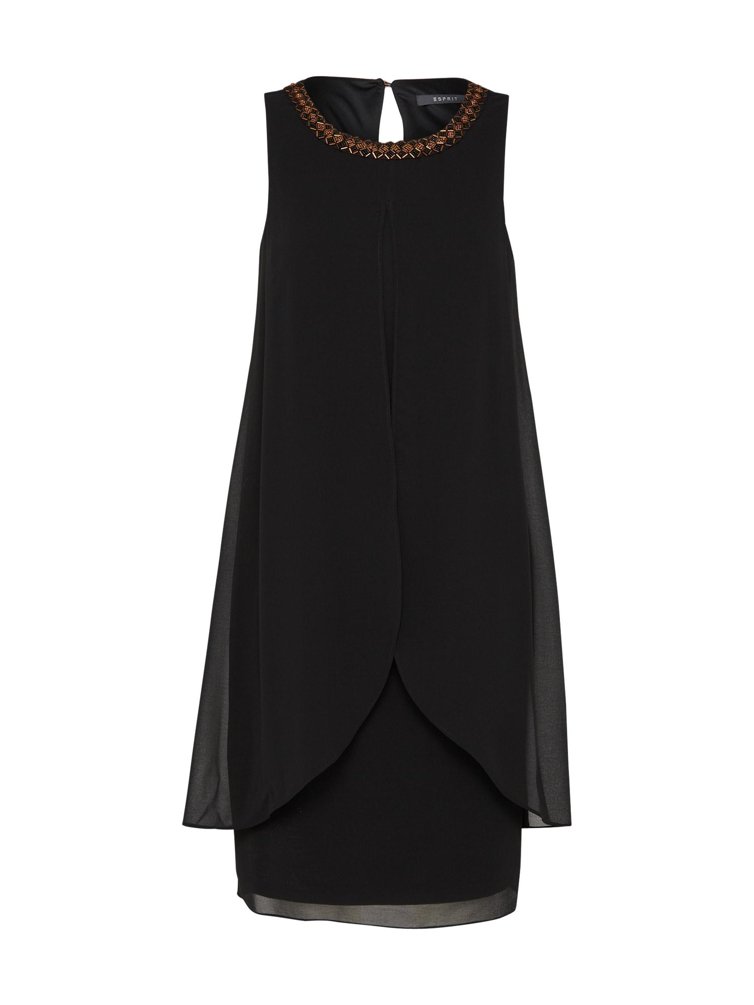 Šaty Soft Chiffon černá Esprit Collection