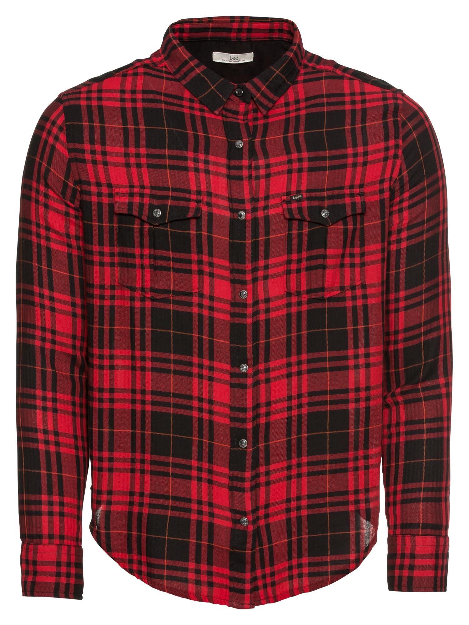 Košile Western červená černá Lee