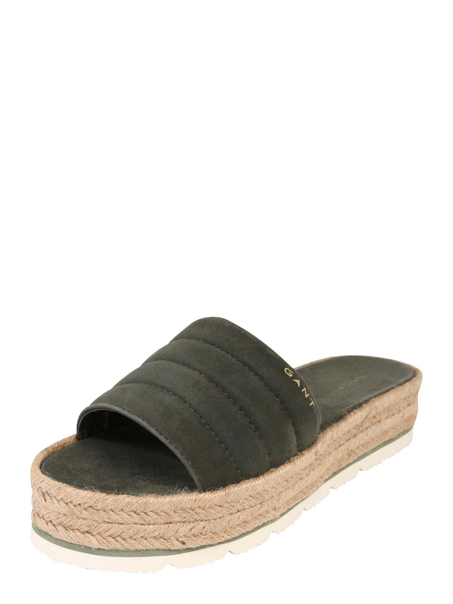 Pantofle Cape Coral khaki GANT