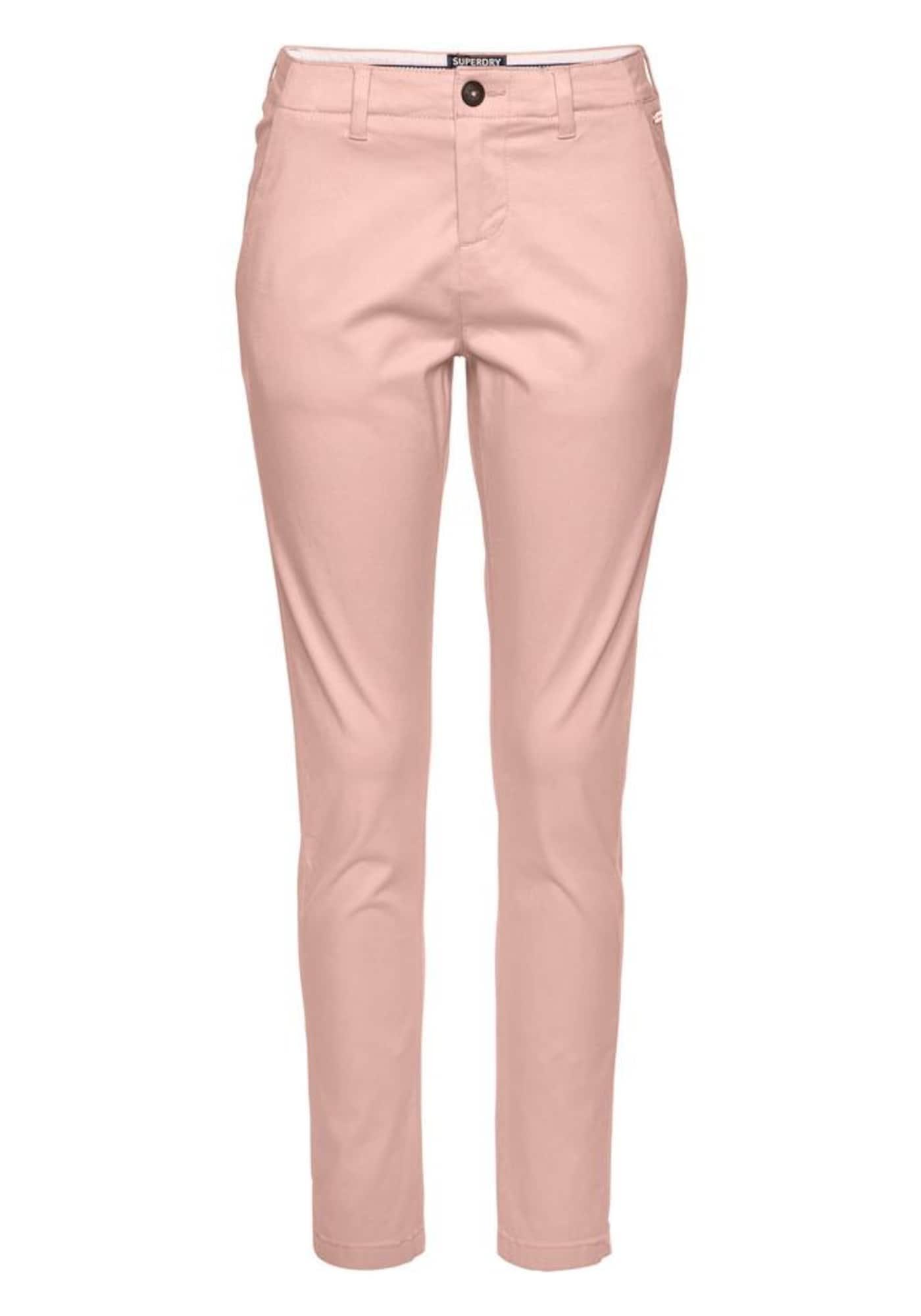 Chino kalhoty starorůžová Superdry