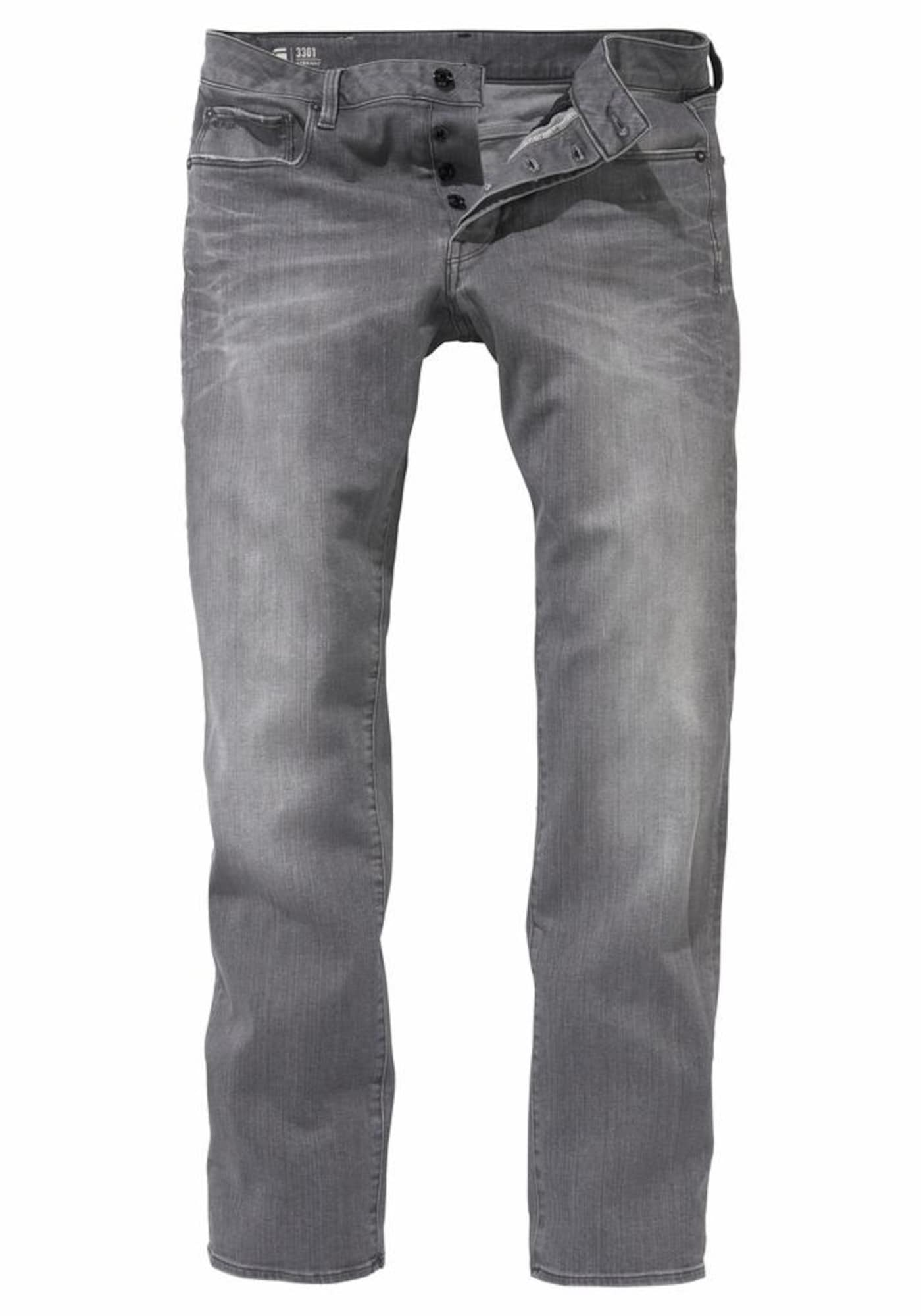 G-STAR RAW Heren Jeans 3301 Straight grijs