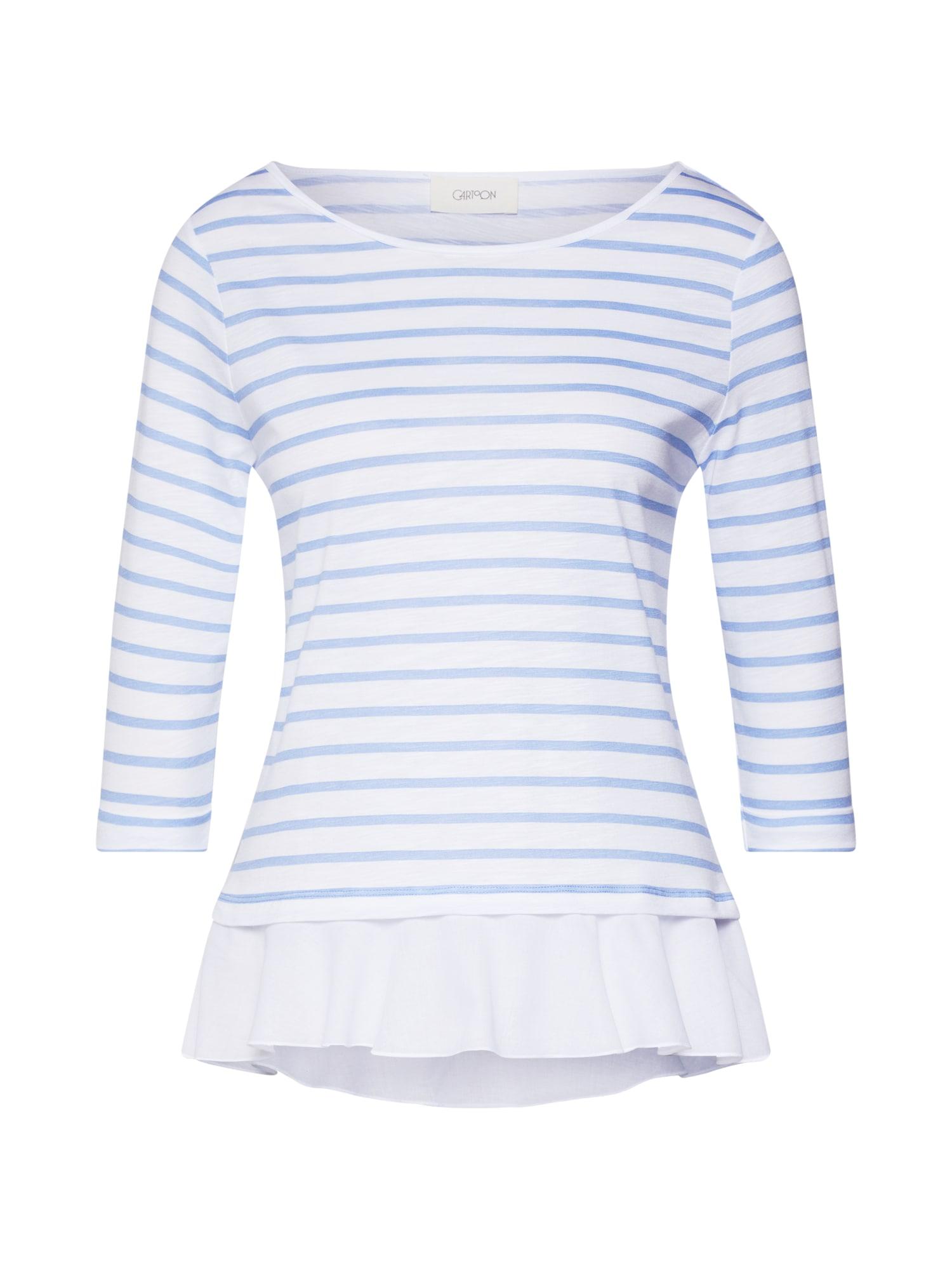 Tričko modrá bílá Cartoon