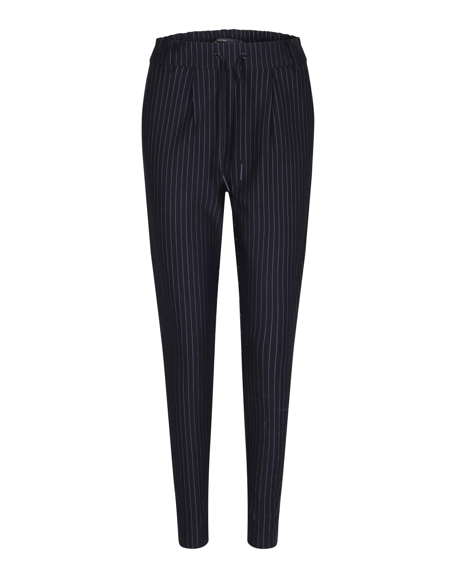 Kalhoty se sklady v pase Onlpoptrash Classic černá ONLY