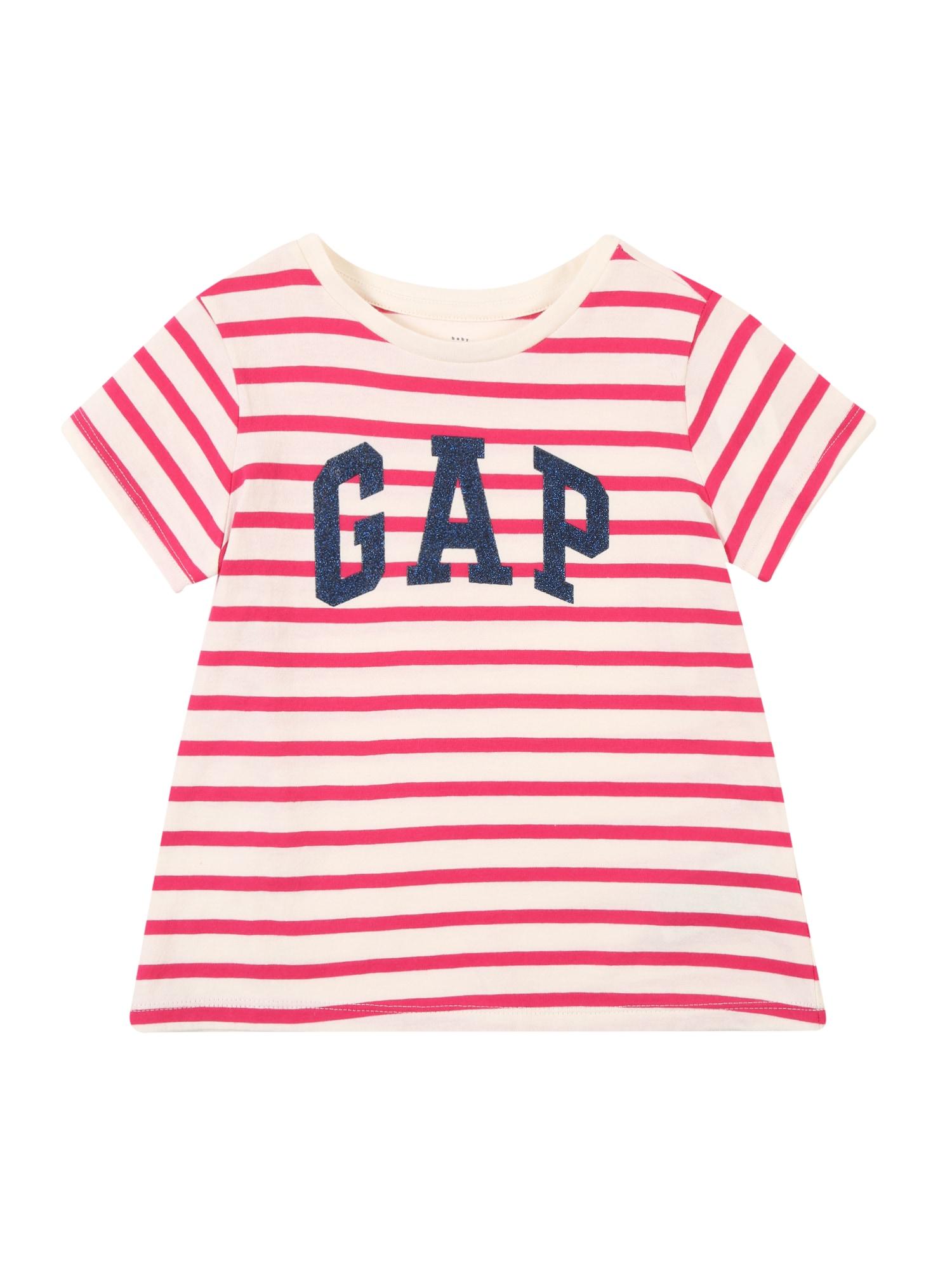 Tričko modrá růžová bílá GAP