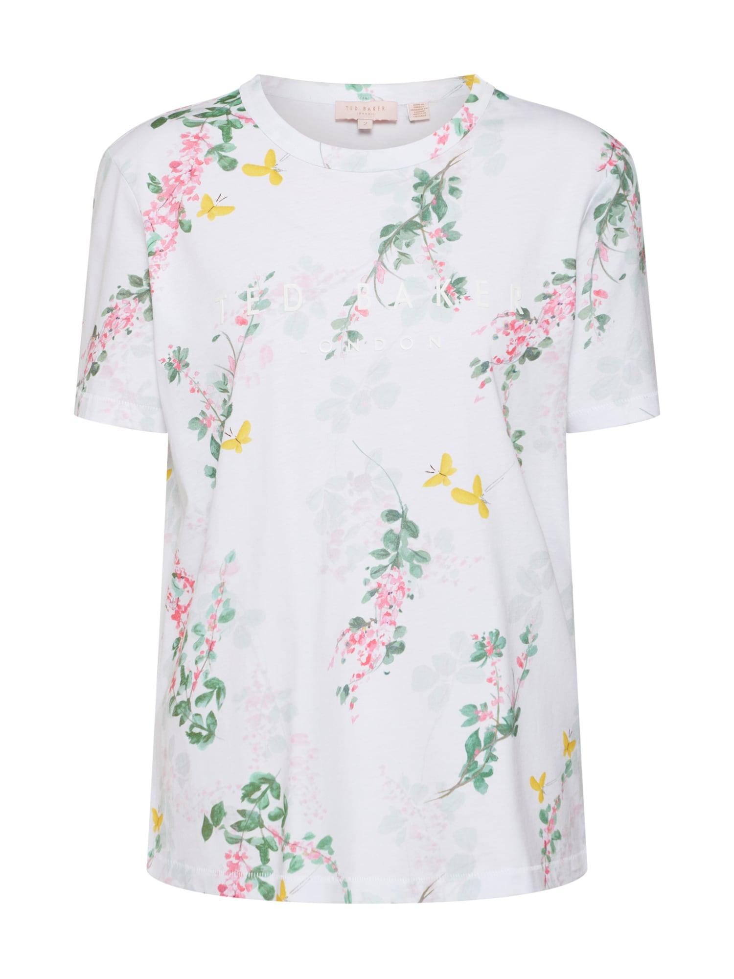 Tričko Malvani zelená růžová bílá Ted Baker