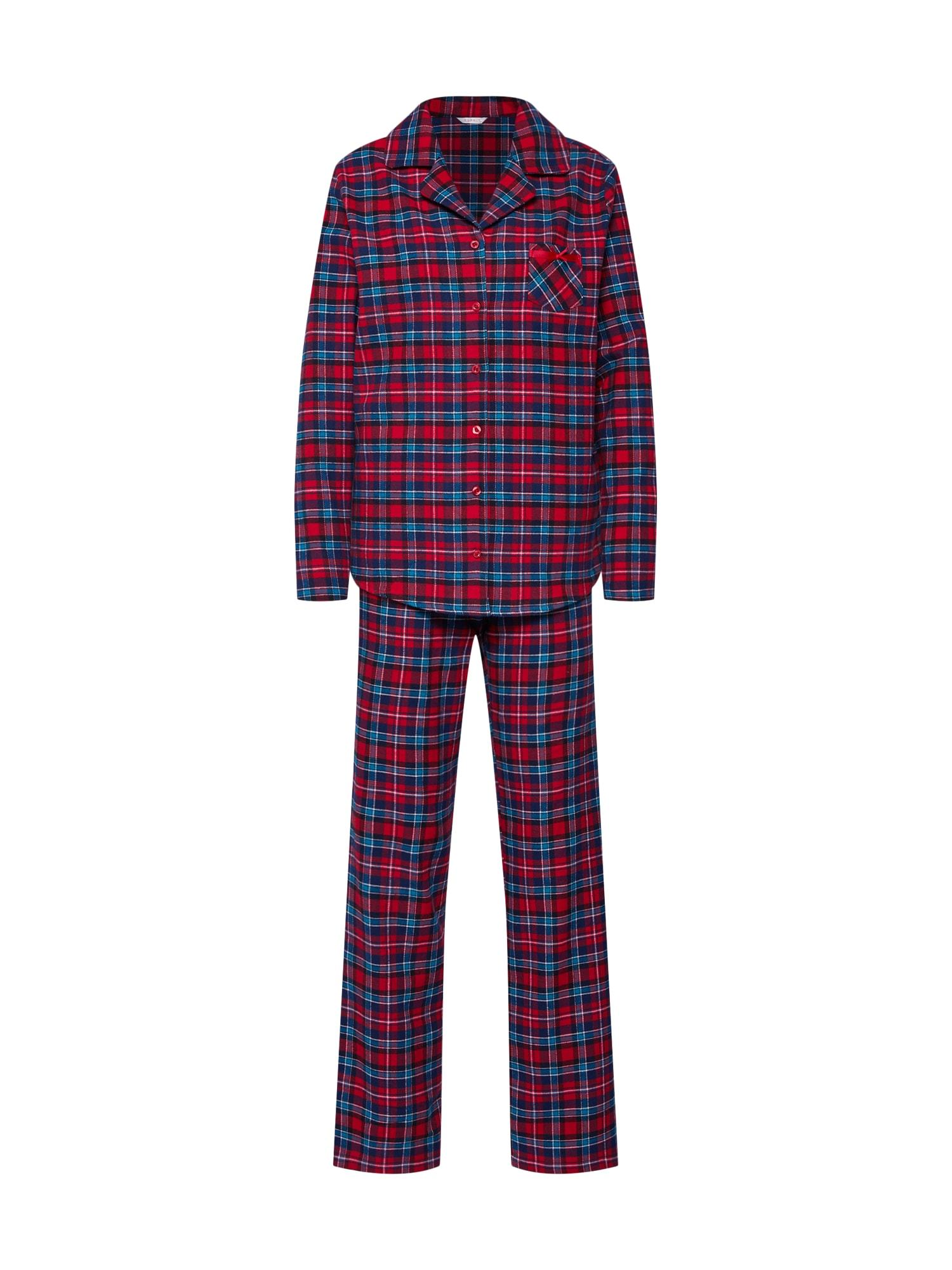 Pyžamo DEBBY CAS NW modrá červená ESPRIT