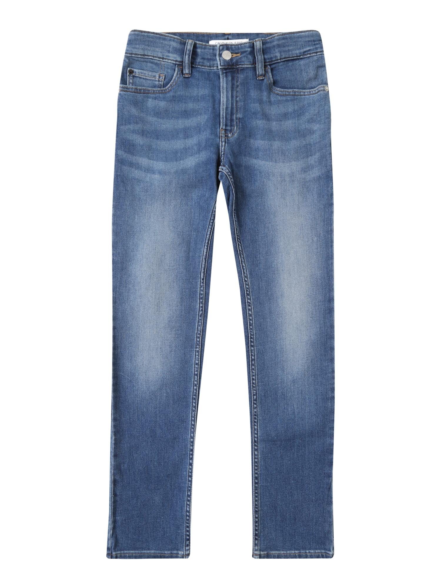 Džíny SLIM VALE MID BLUE STRETCH modrá džínovina Calvin Klein Jeans