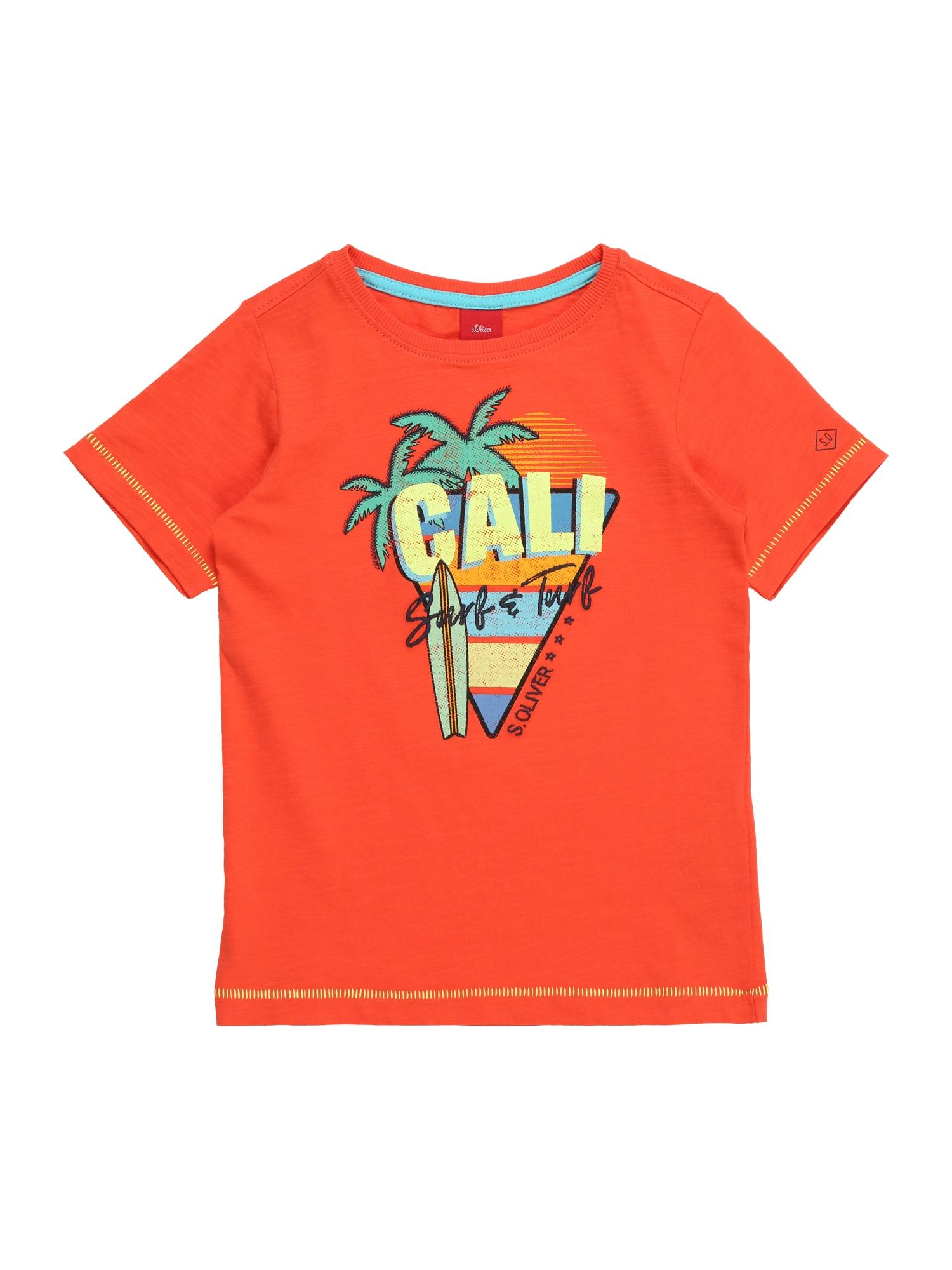 Tričko oranžově červená S.Oliver Junior