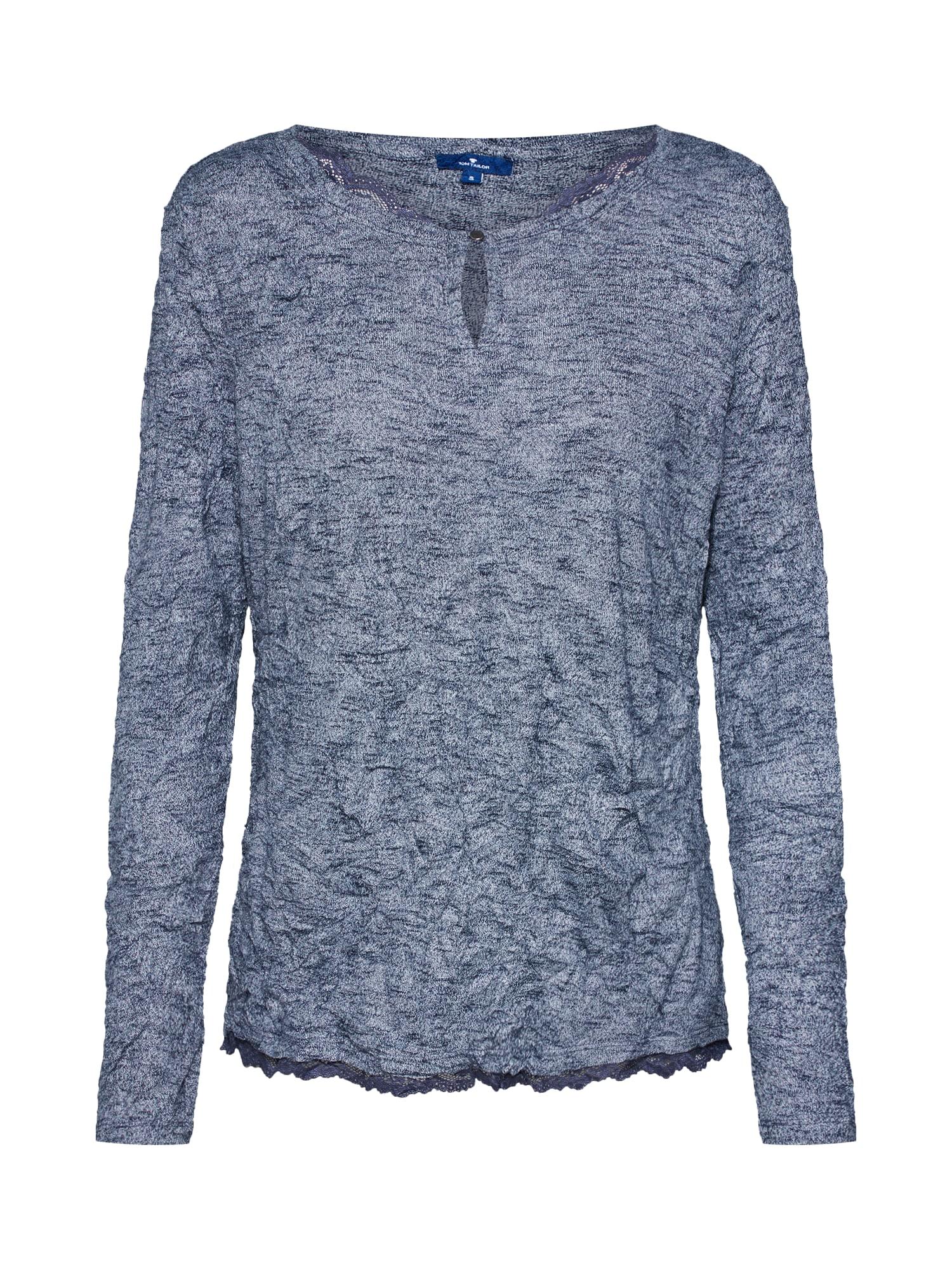 Tričko Crincle tmavě modrá TOM TAILOR