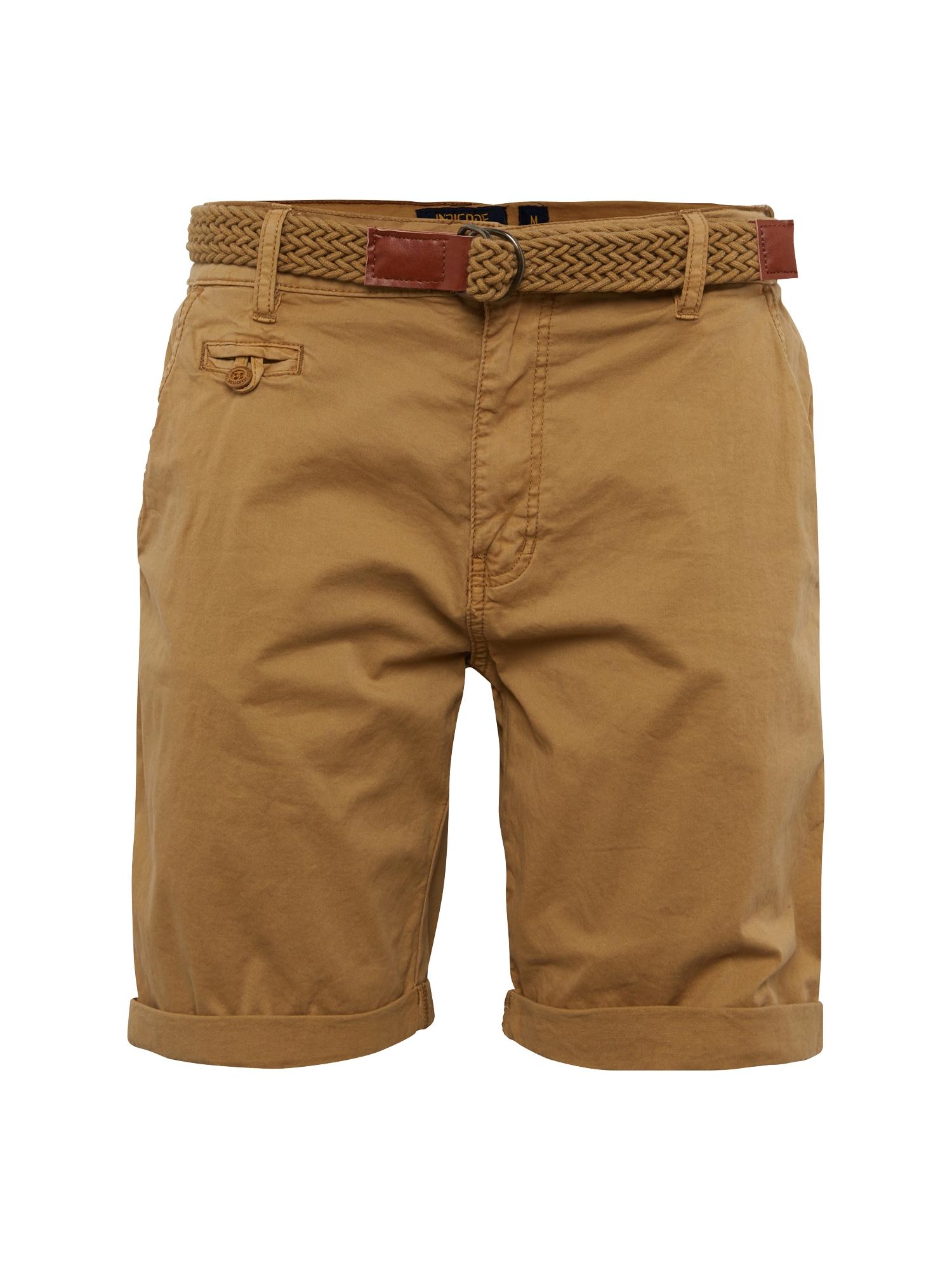 Chino kalhoty Conor světle hnědá INDICODE JEANS