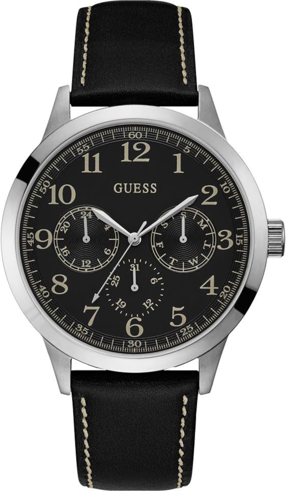 Multifunktionsuhr 'BOULDER' | Uhren > Multifunktionsuhren | Schwarz | Guess