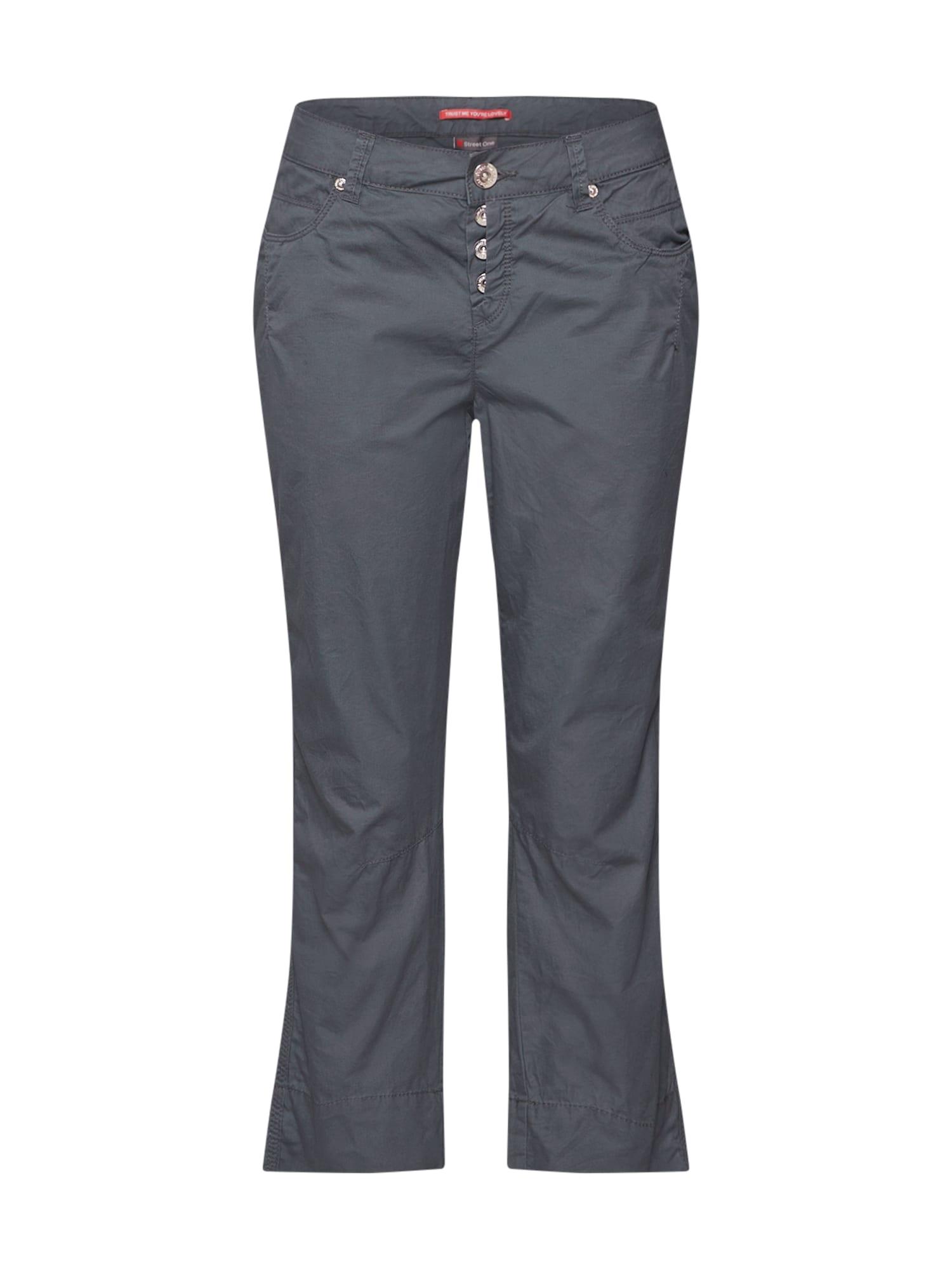 Chino kalhoty Jane L26 Papertouch MW Casual tmavě zelená STREET ONE