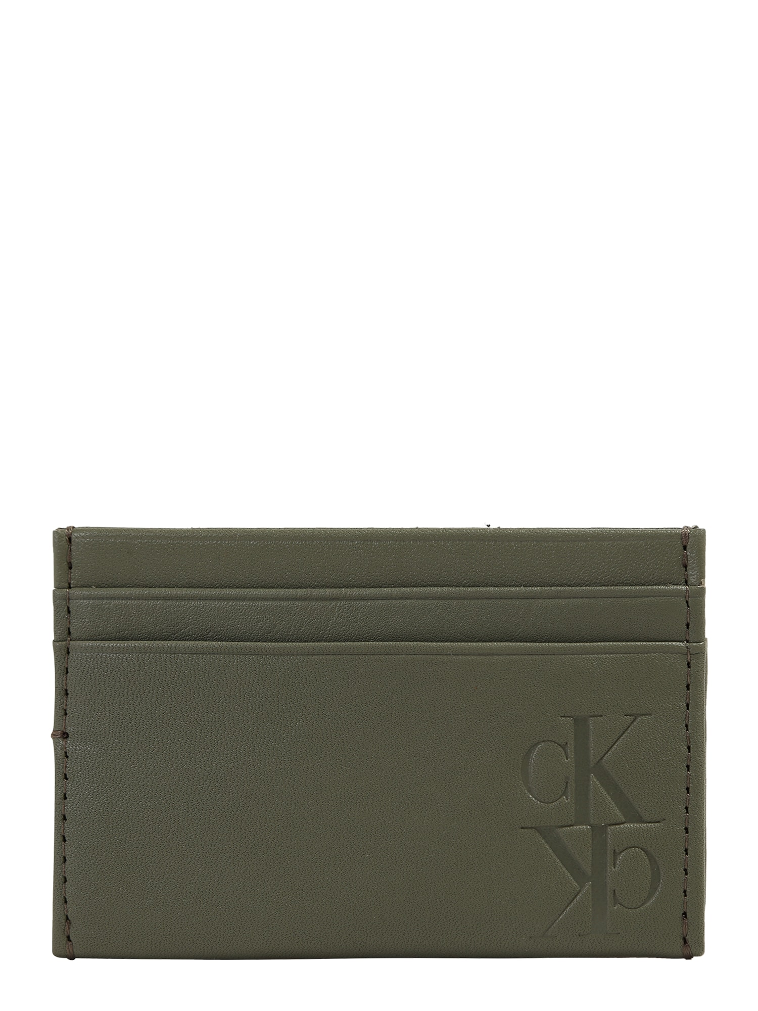 Calvin Klein Jeans Peněženka 'MIRROR MONOGRAM'  olivová