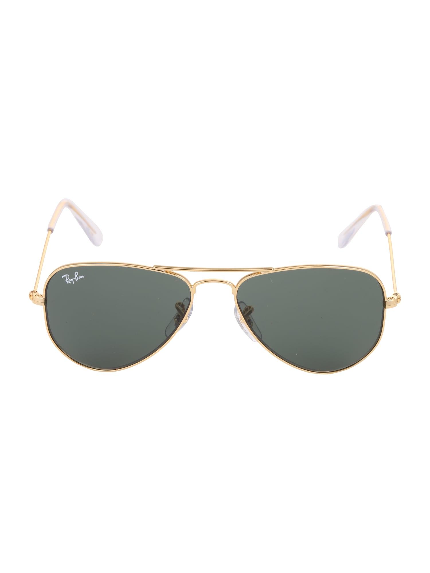 Sluneční brýle JUNIOR AVIATOR zlatá zelená Ray-Ban