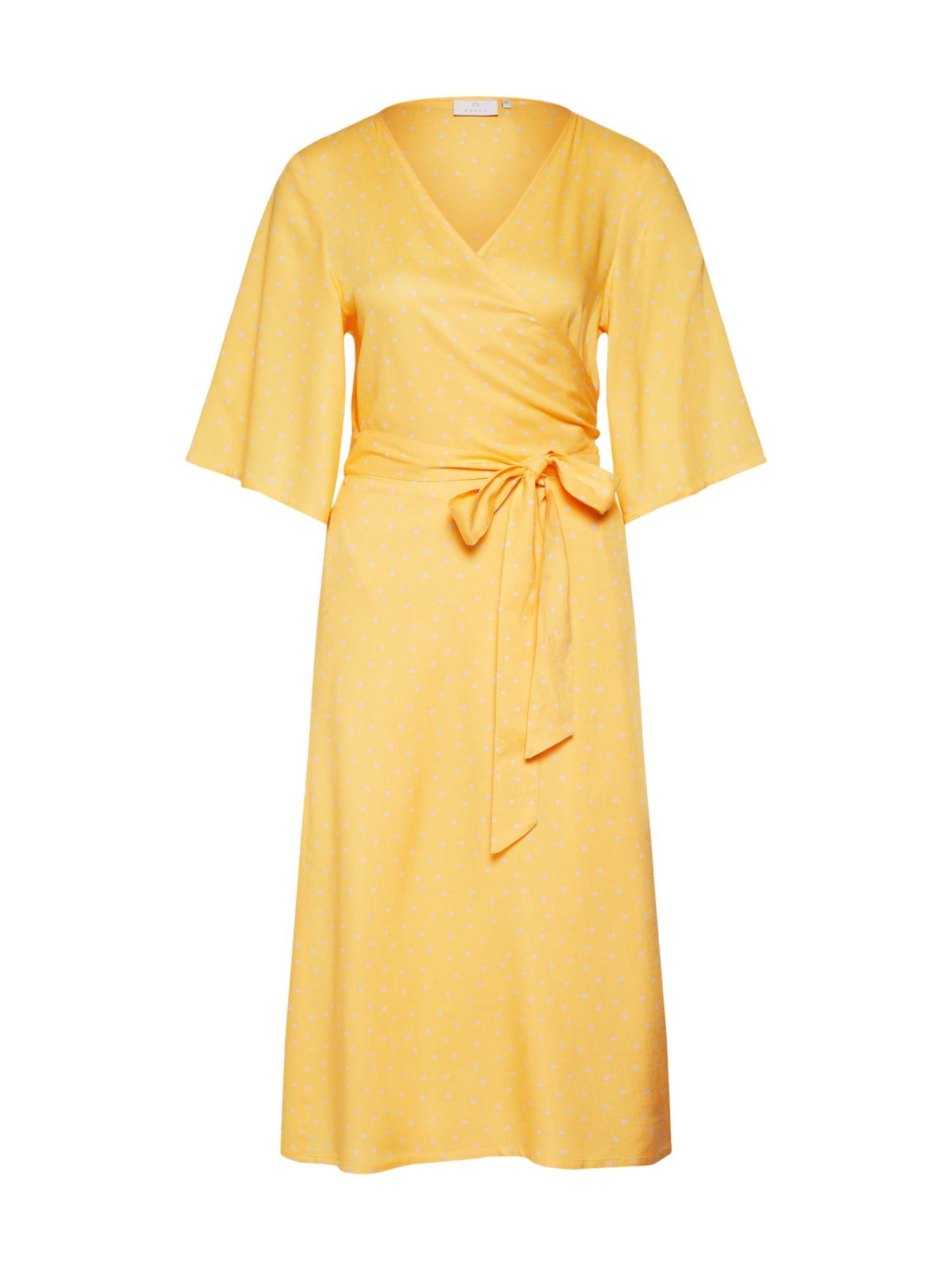 Letní šaty Isabel žlutá stříbrná Kaffe