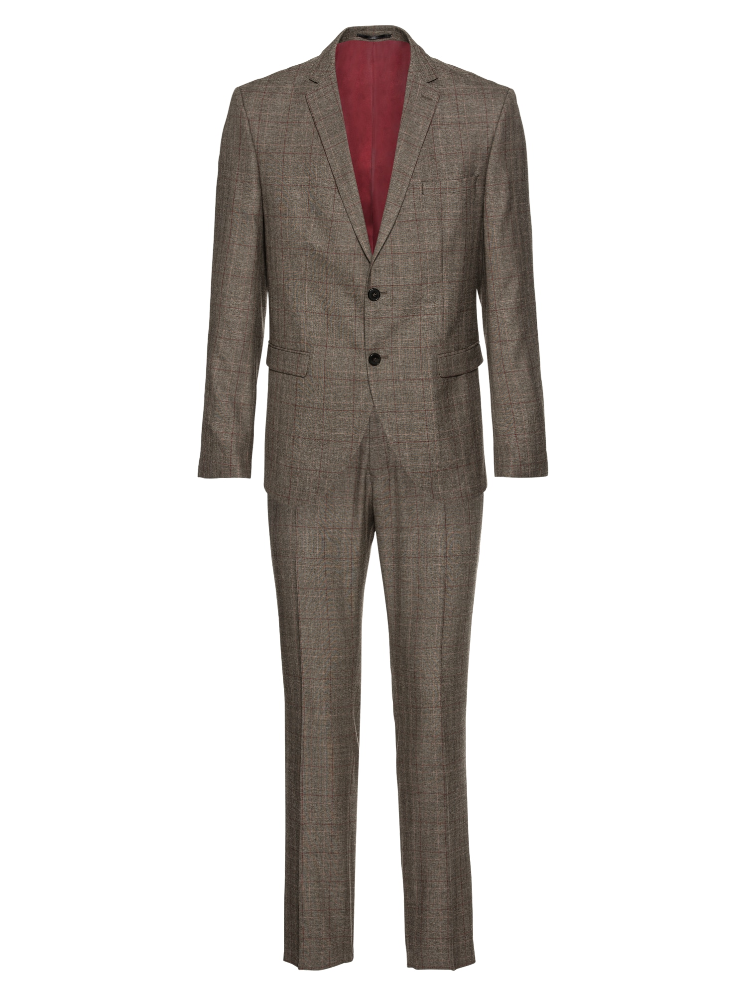 Oblek SLHSLIM-MYLOLOGAN BROWN CHECK SUIT B hnědá SELECTED HOMME