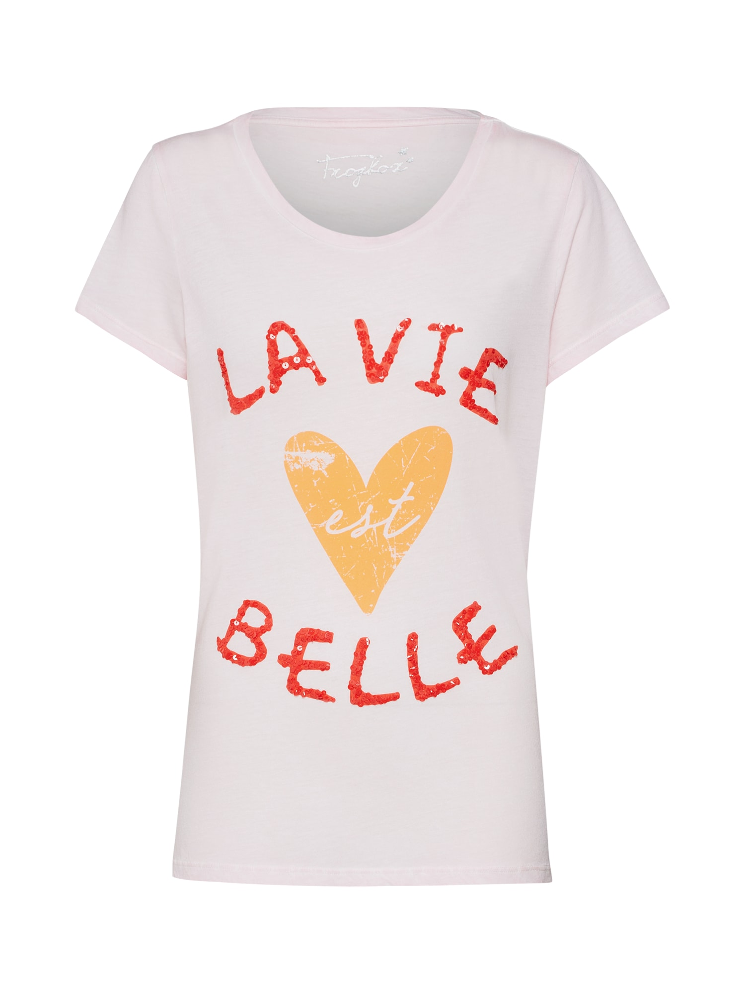 Tričko Shirt La Vie est belle růžová Frogbox