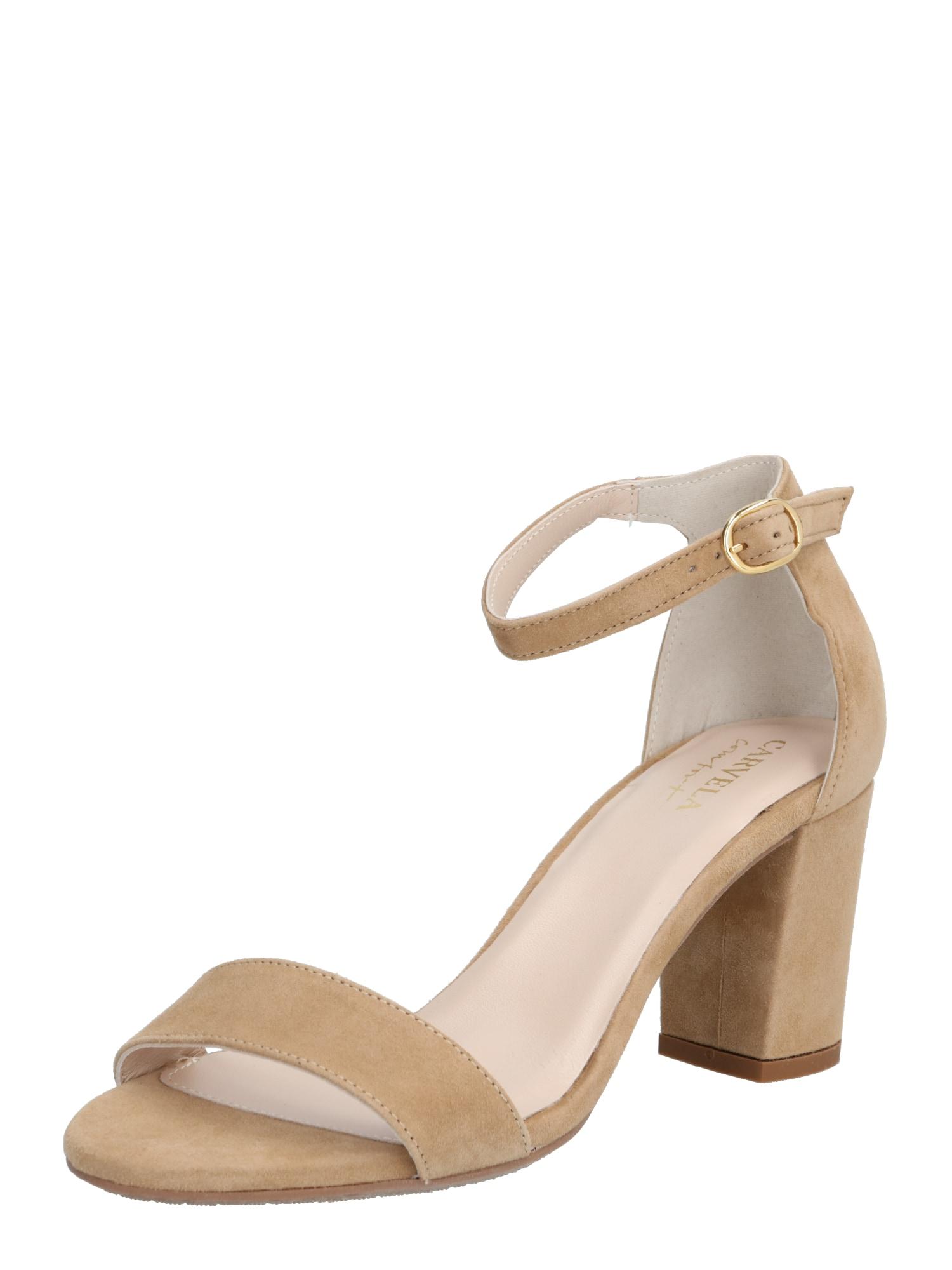 Carvela By Kurt Geiger Remienkové sandále 'ABIGAIL'  béžová / farba ťavej srsti
