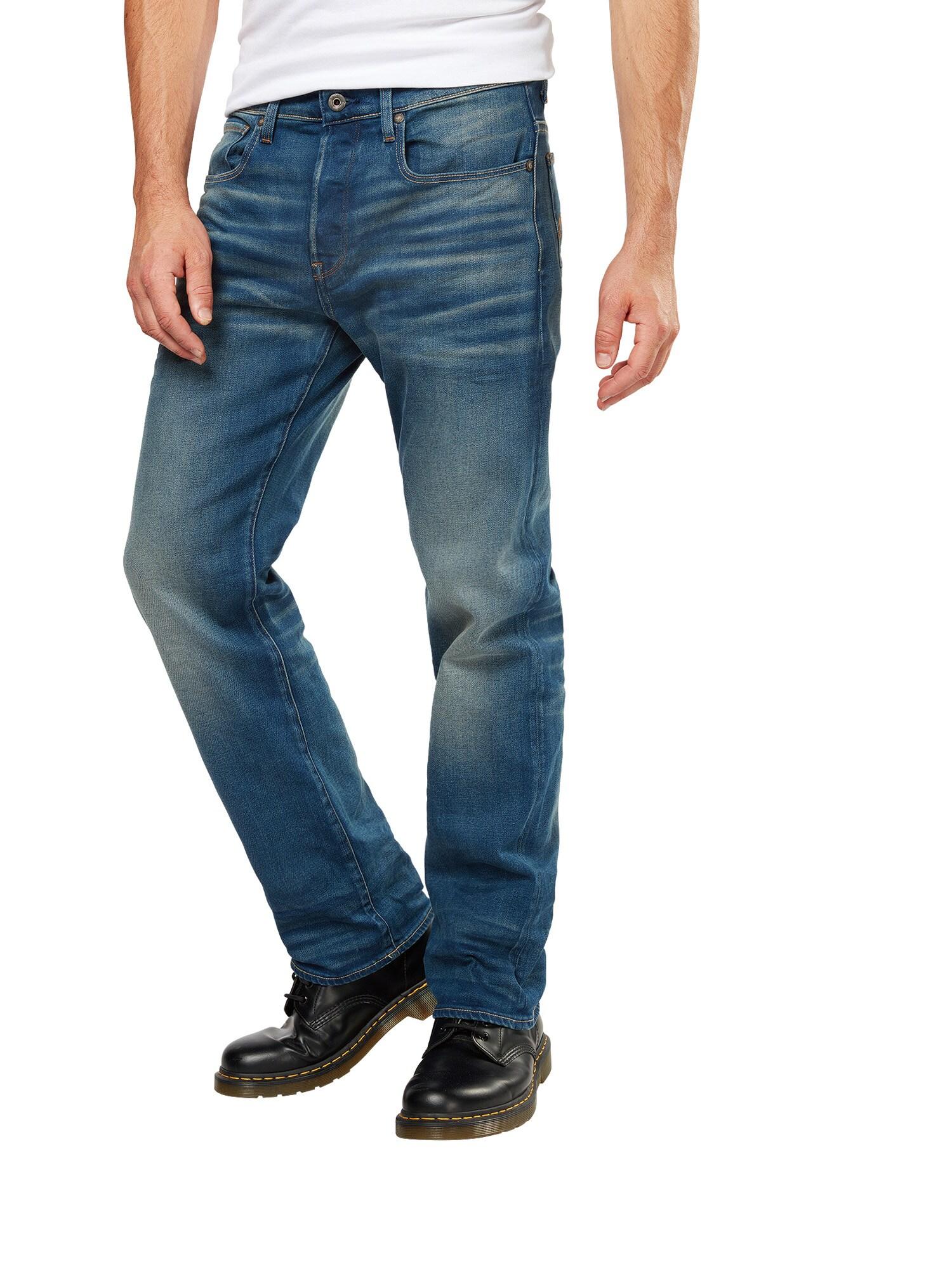 G-STAR RAW Heren Jeans 3301 Loose blue denim