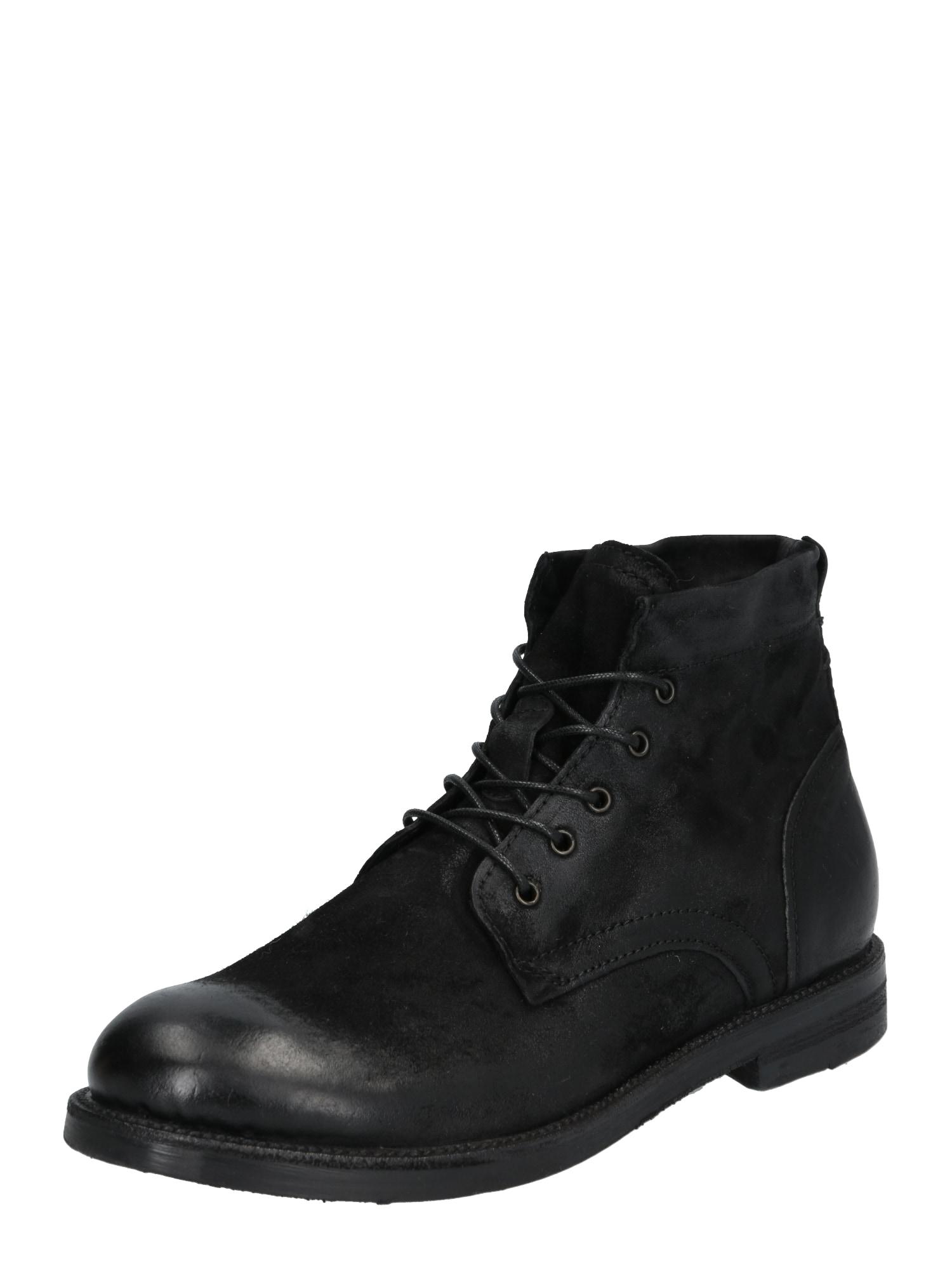 Šněrovací boty černá A.S.98