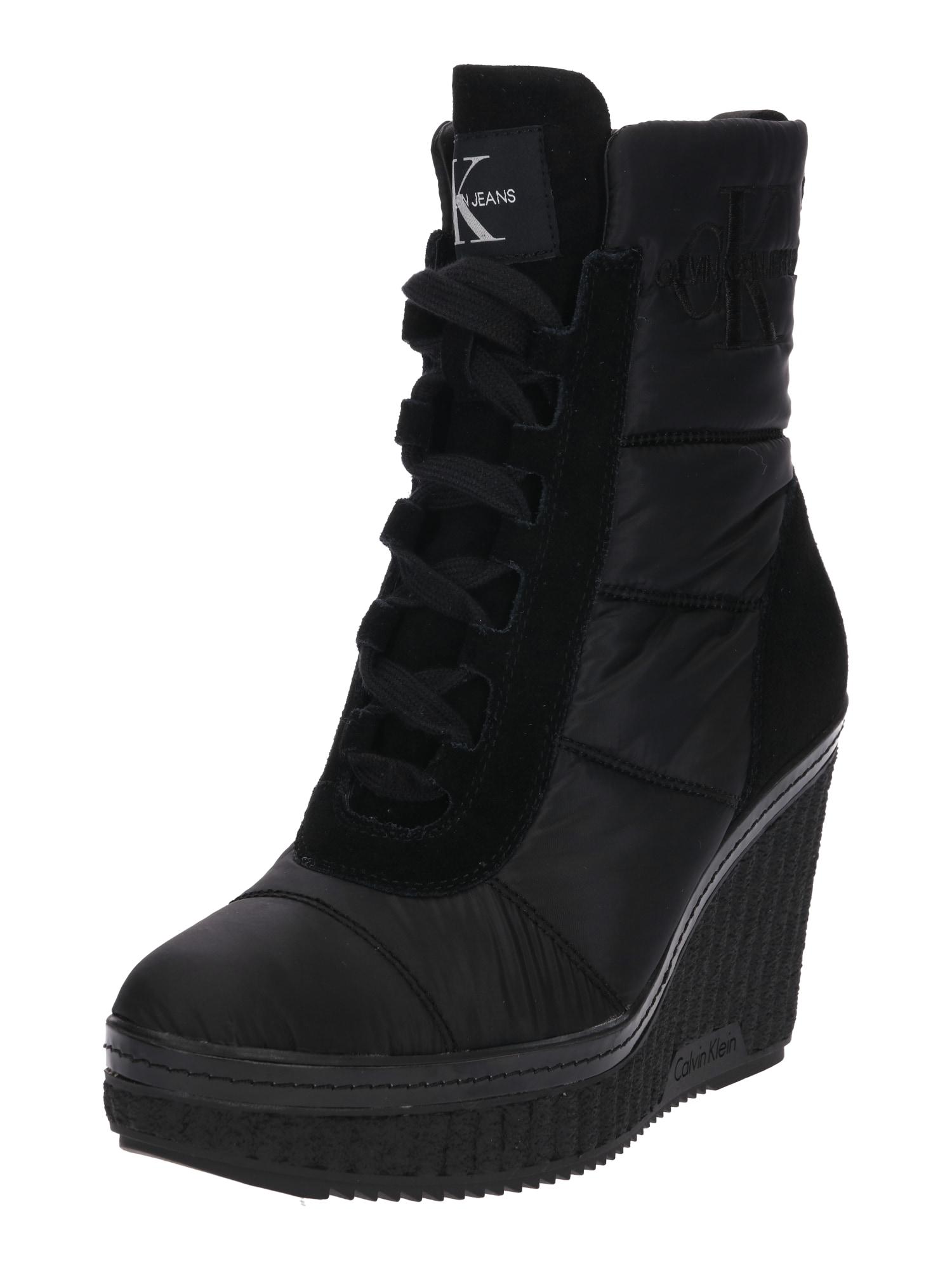 Nízké kozačky SOLE černá Calvin Klein Jeans