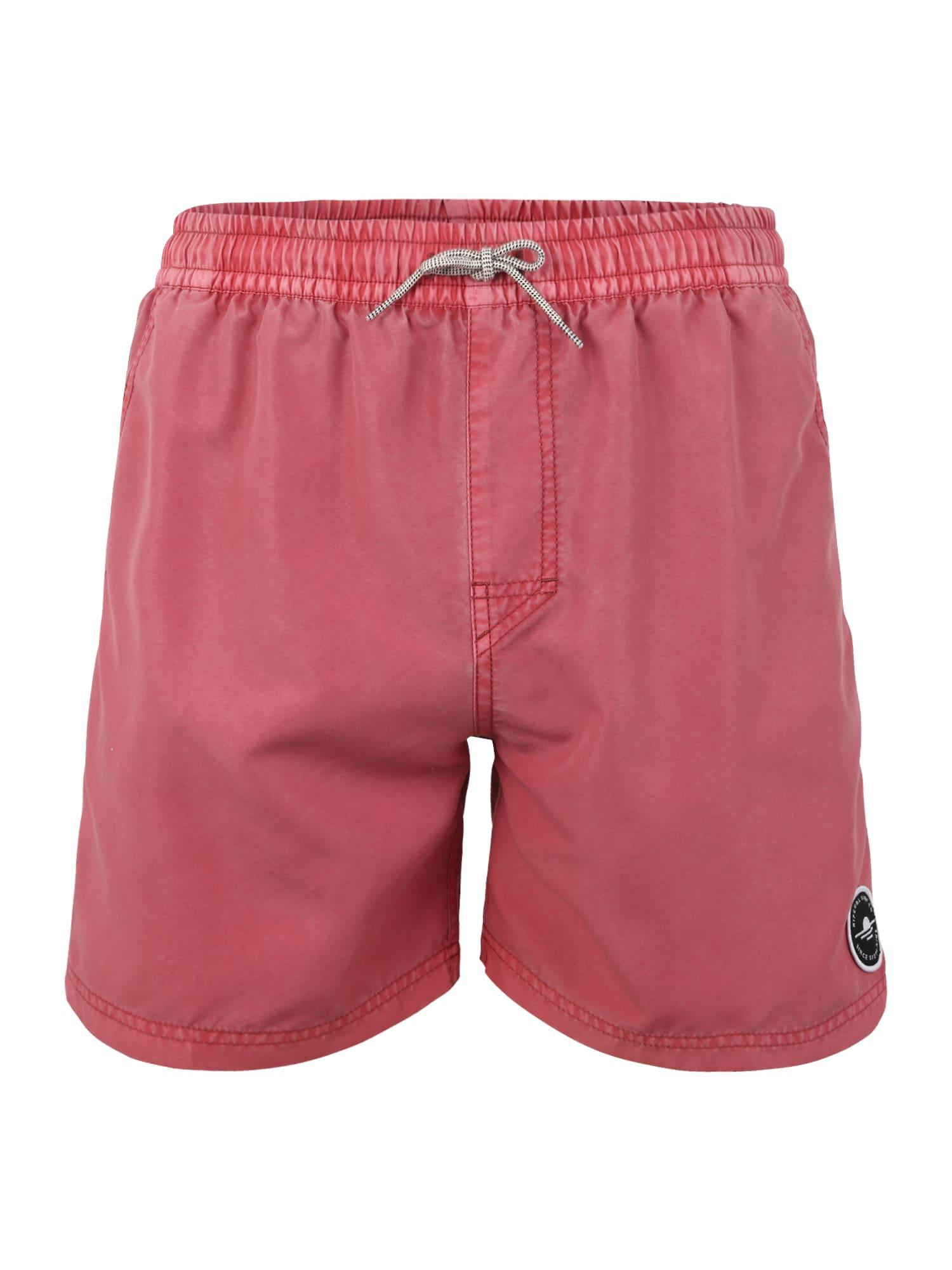 Plavecké šortky VOLLEY SUNSET SHADES 16 červená RIP CURL