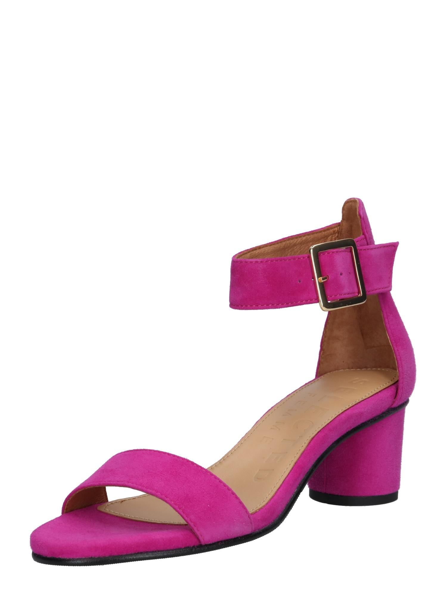 Páskové sandály Merle pink SELECTED FEMME