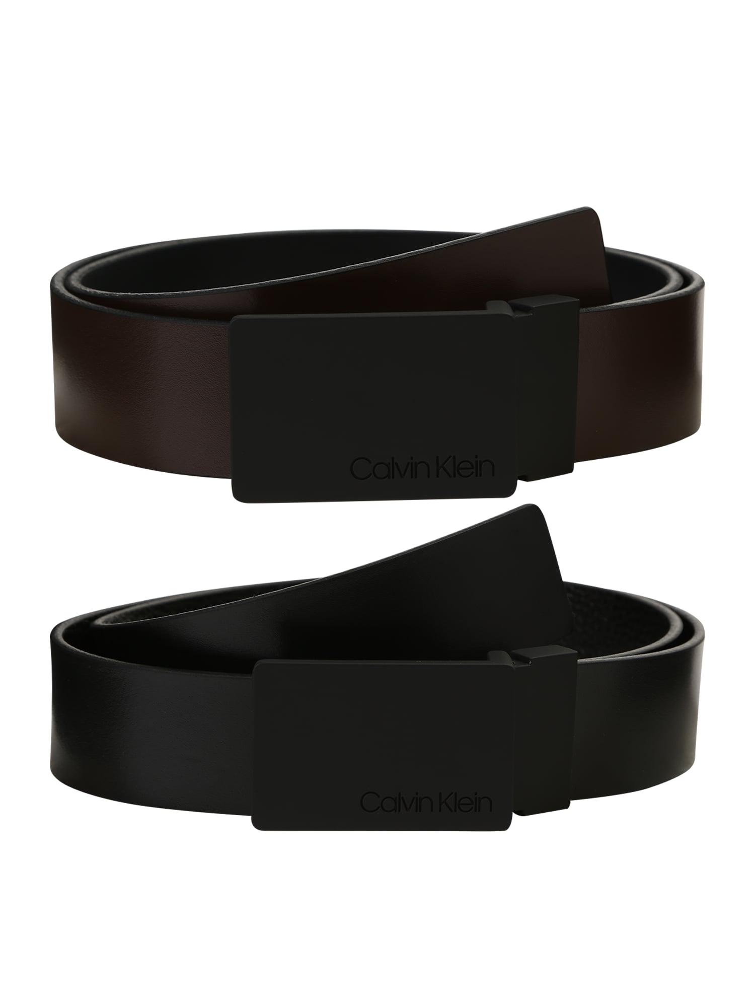 Calvin Klein Opasek '3.5CM GIFTSET'  tmavě hnědá / černá