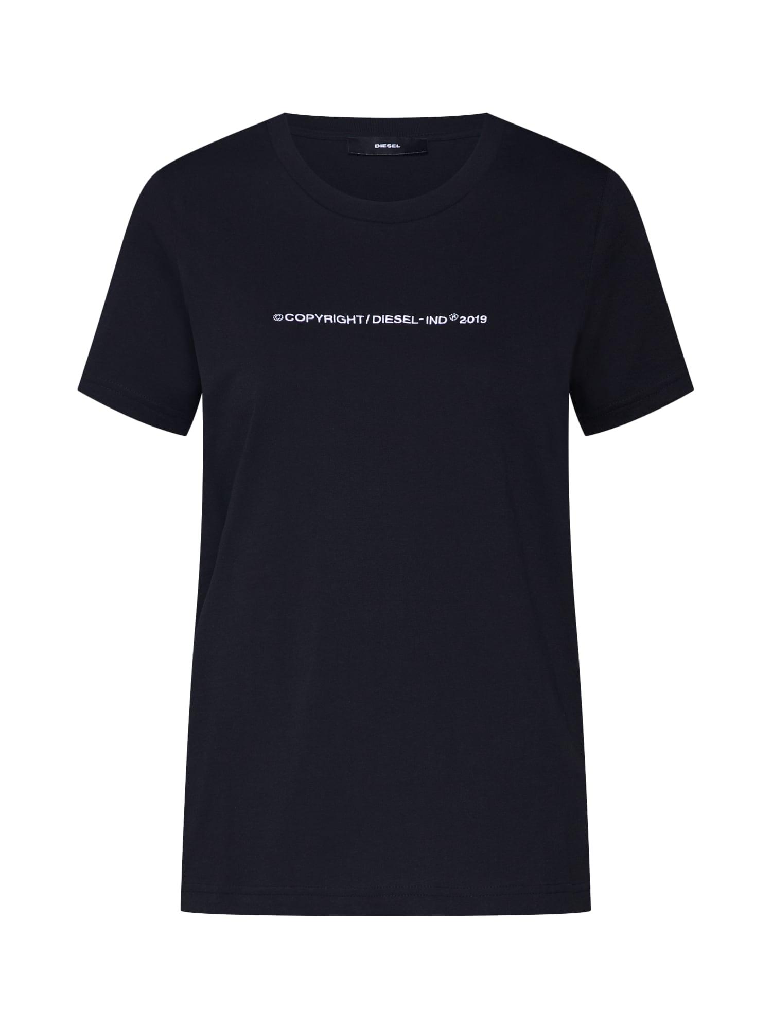 Tričko T-SILY-WR černá bílá DIESEL