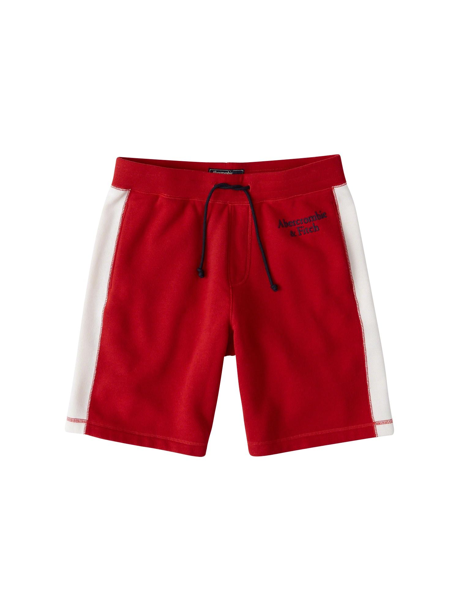 Kalhoty červená Abercrombie & Fitch