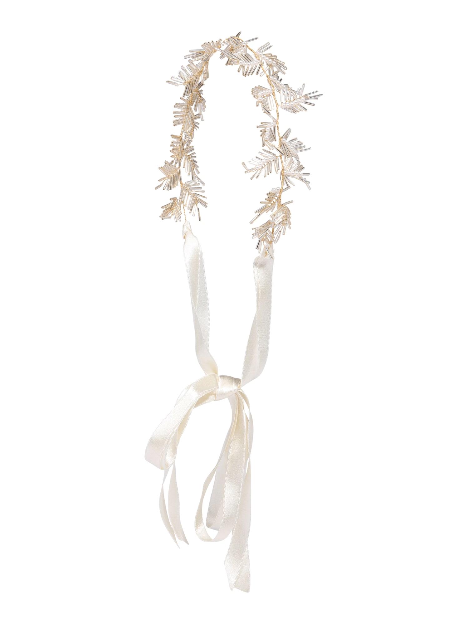 Šperky do vlasů Audrey zlatá perlově bílá We Are Flowergirls