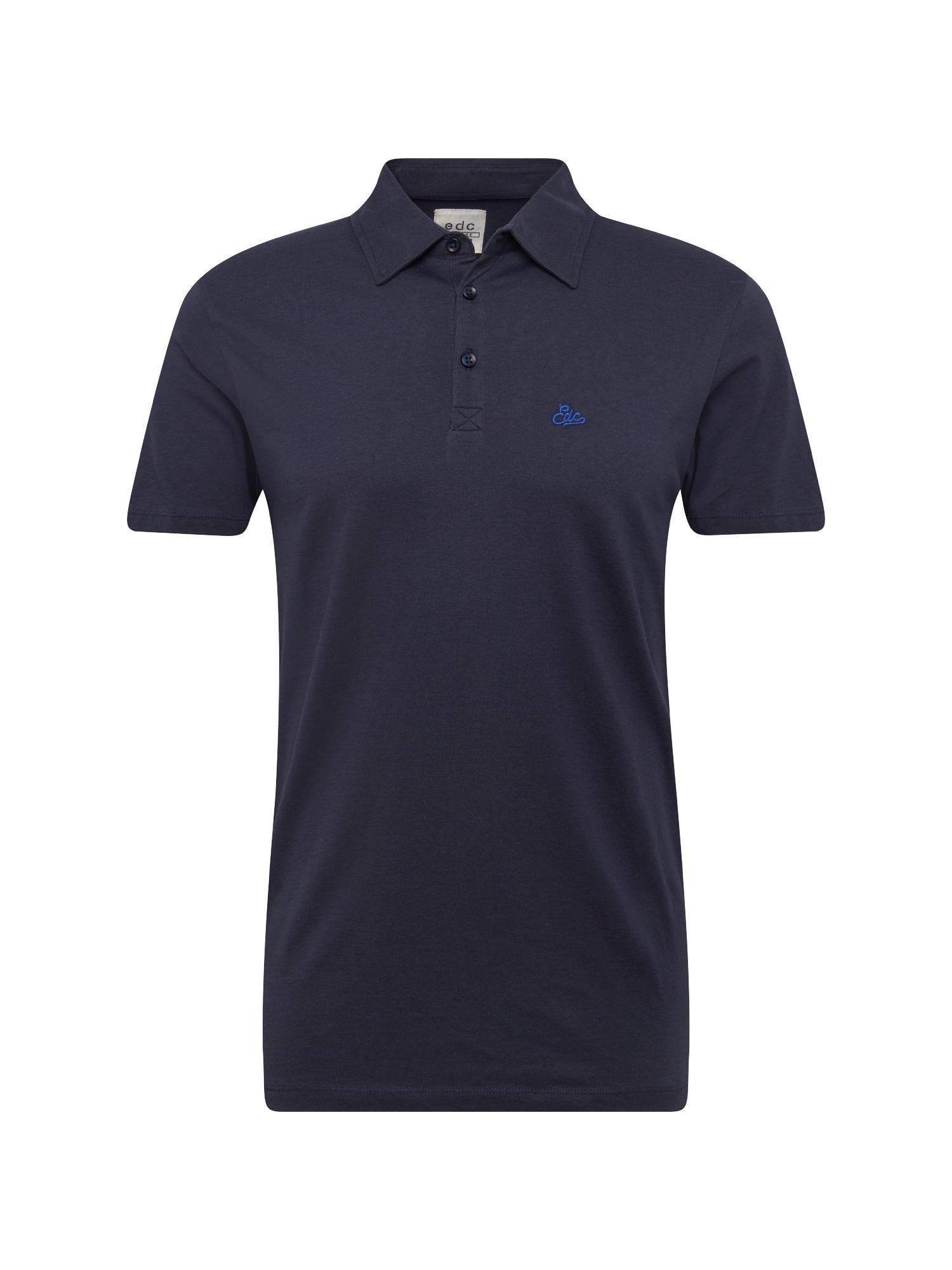 Tričko F polo jersey námořnická modř EDC BY ESPRIT