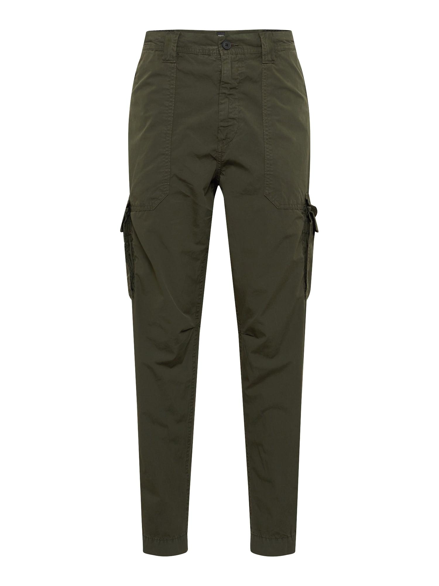 Chino kalhoty Sargo tmavě zelená BOSS