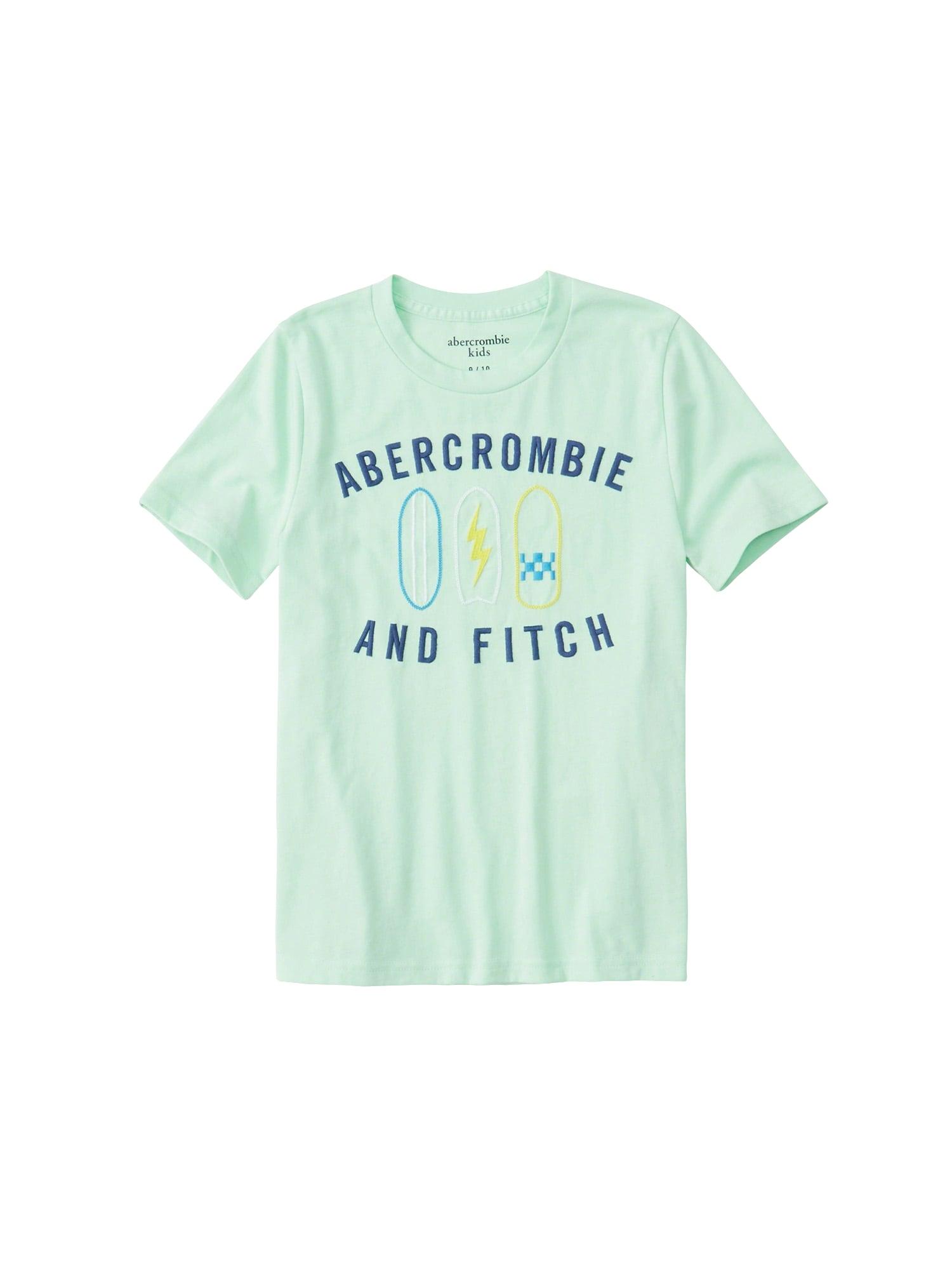 Tričko SB19-DTC JAN SS TECH LOGO 8CC mátová Abercrombie & Fitch